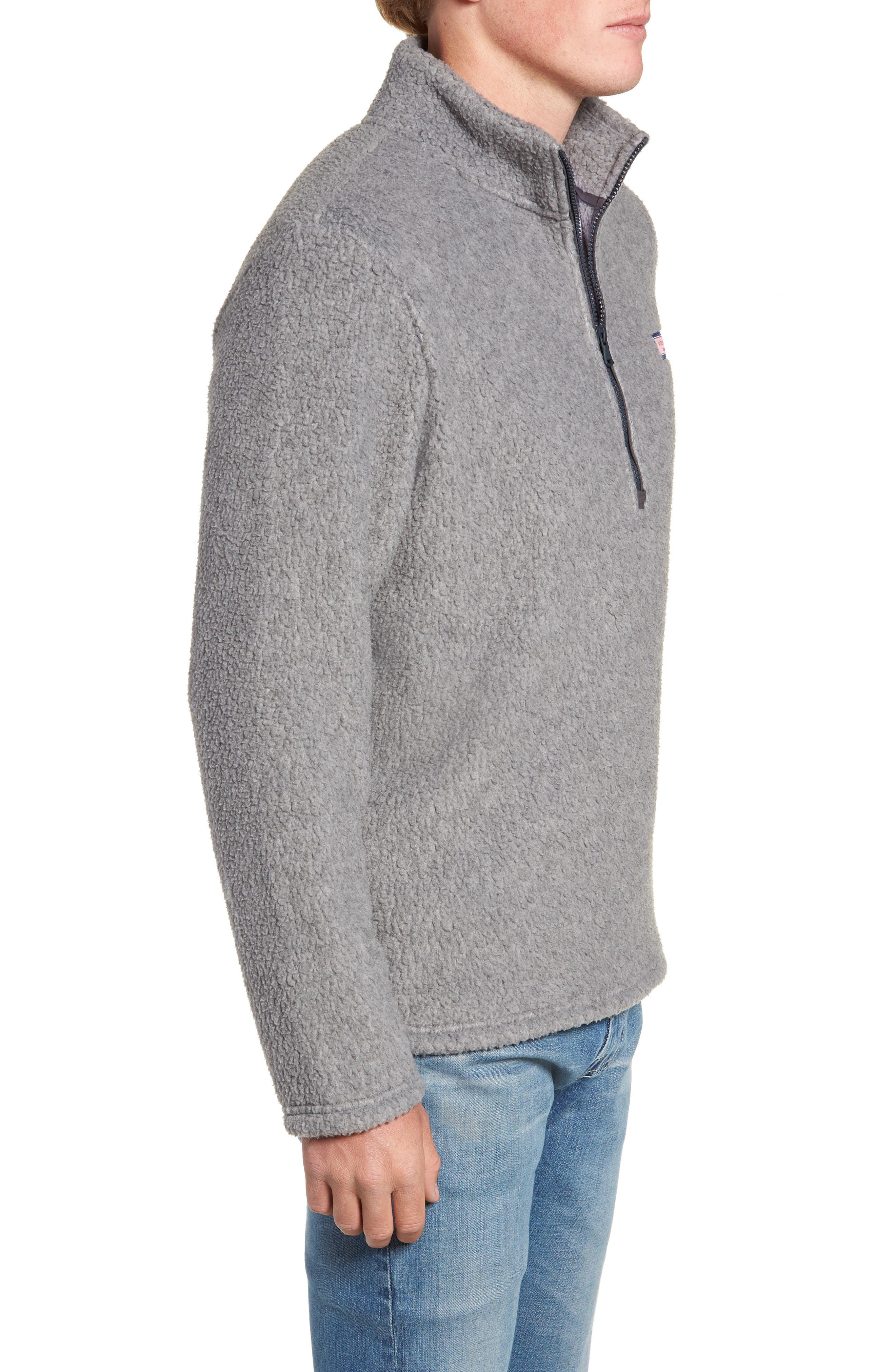 Fleece Quarter Zip Pullover,                             Alternate thumbnail 3, color,                             020