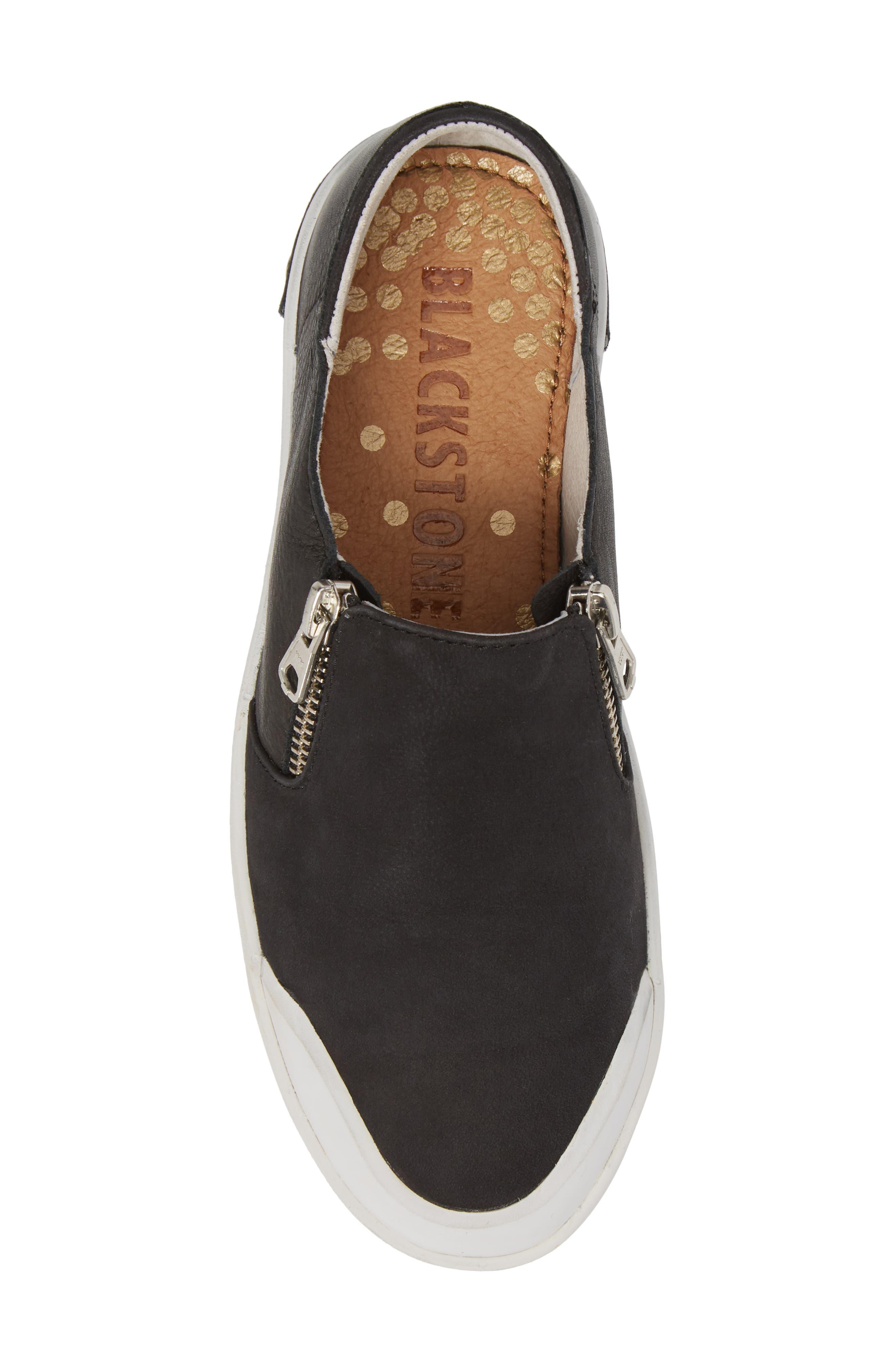 PL82 Slip-On Sneaker,                             Alternate thumbnail 5, color,                             BLACK LEATHER