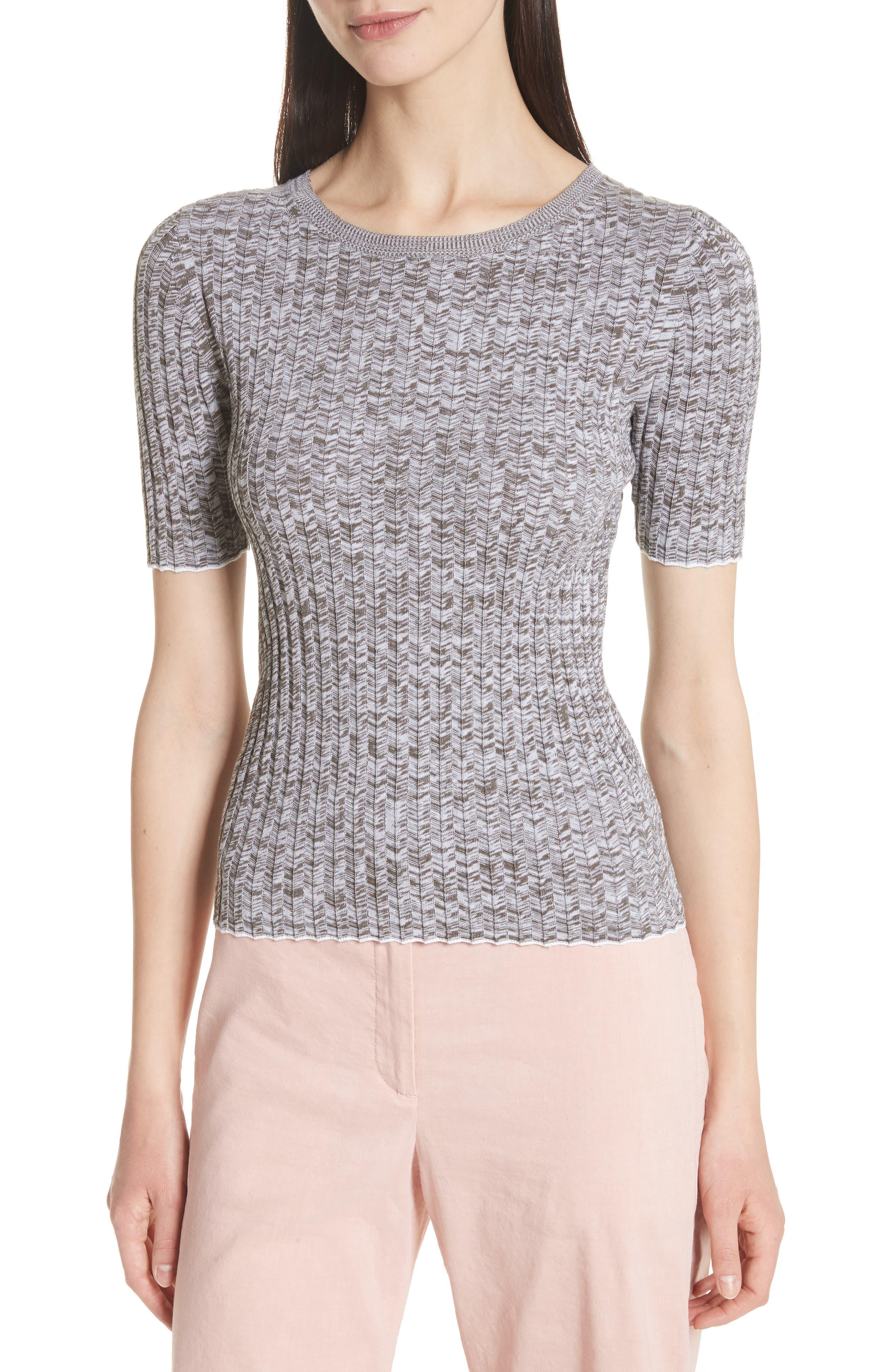 Marled Rib Knit Crewneck Sweater,                             Main thumbnail 1, color,                             197