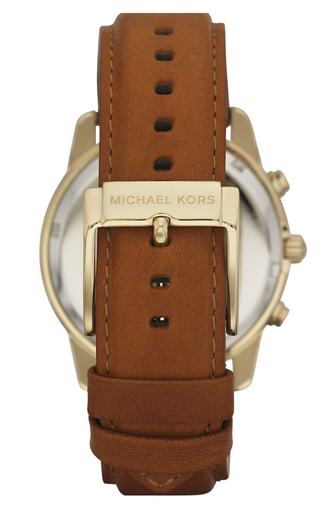 Michael Kors Chronograph Leather Strap Watch, 41mm,                             Alternate thumbnail 20, color,