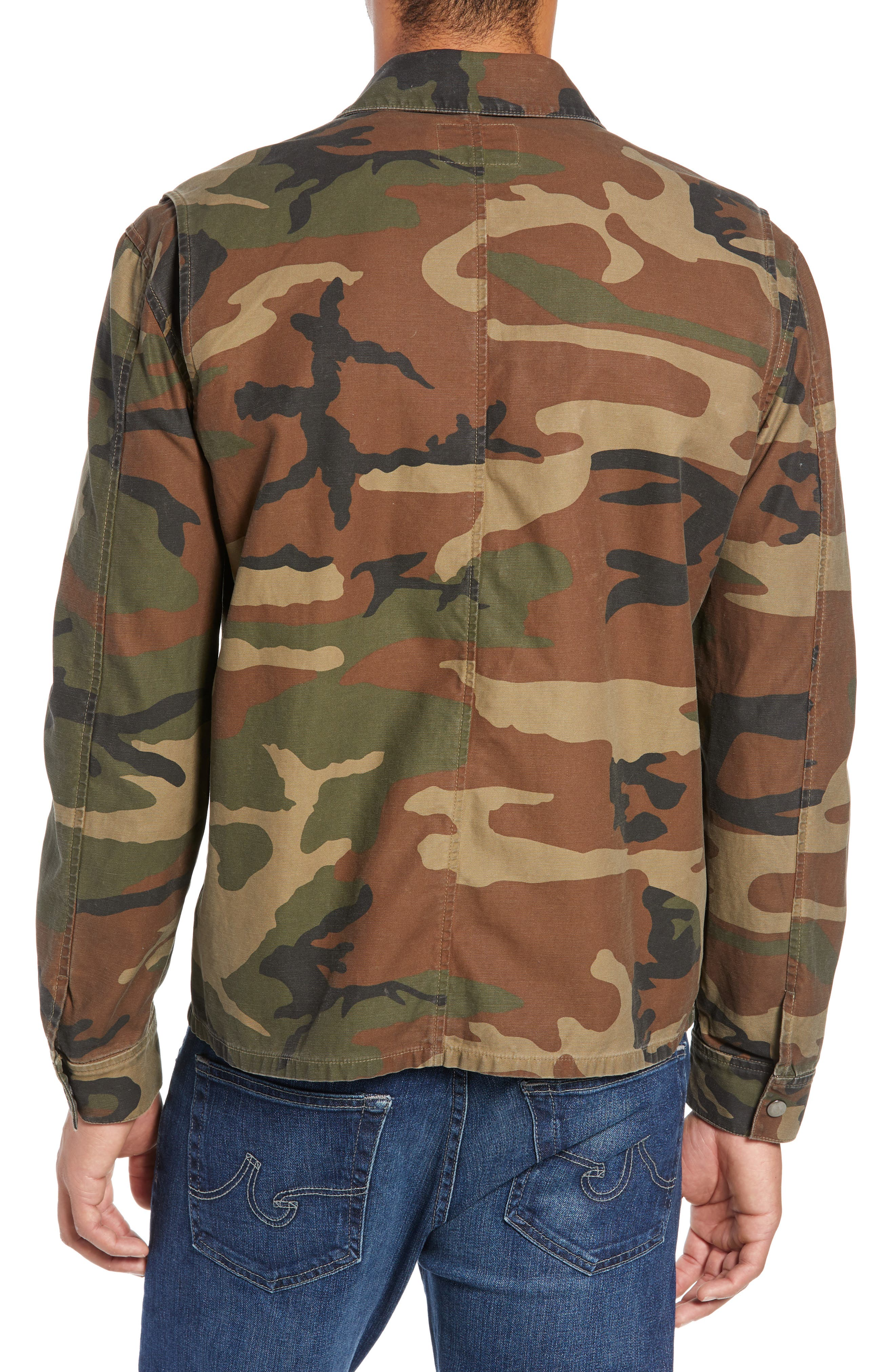 Wendell Slim Fit Camo Shirt Jacket,                             Alternate thumbnail 2, color,                             340