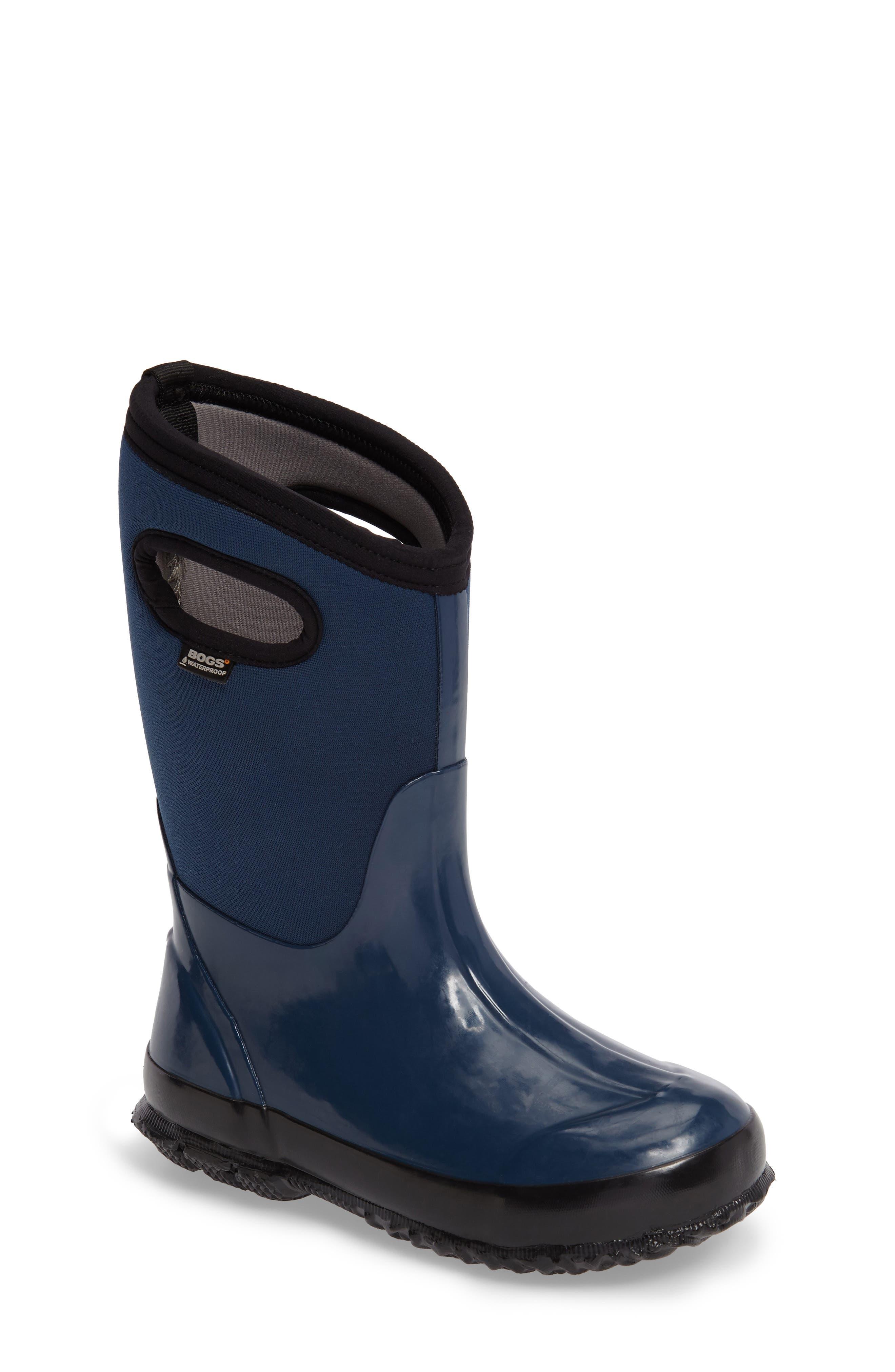 Classic Solid Waterproof Rain Boot,                             Main thumbnail 1, color,                             410