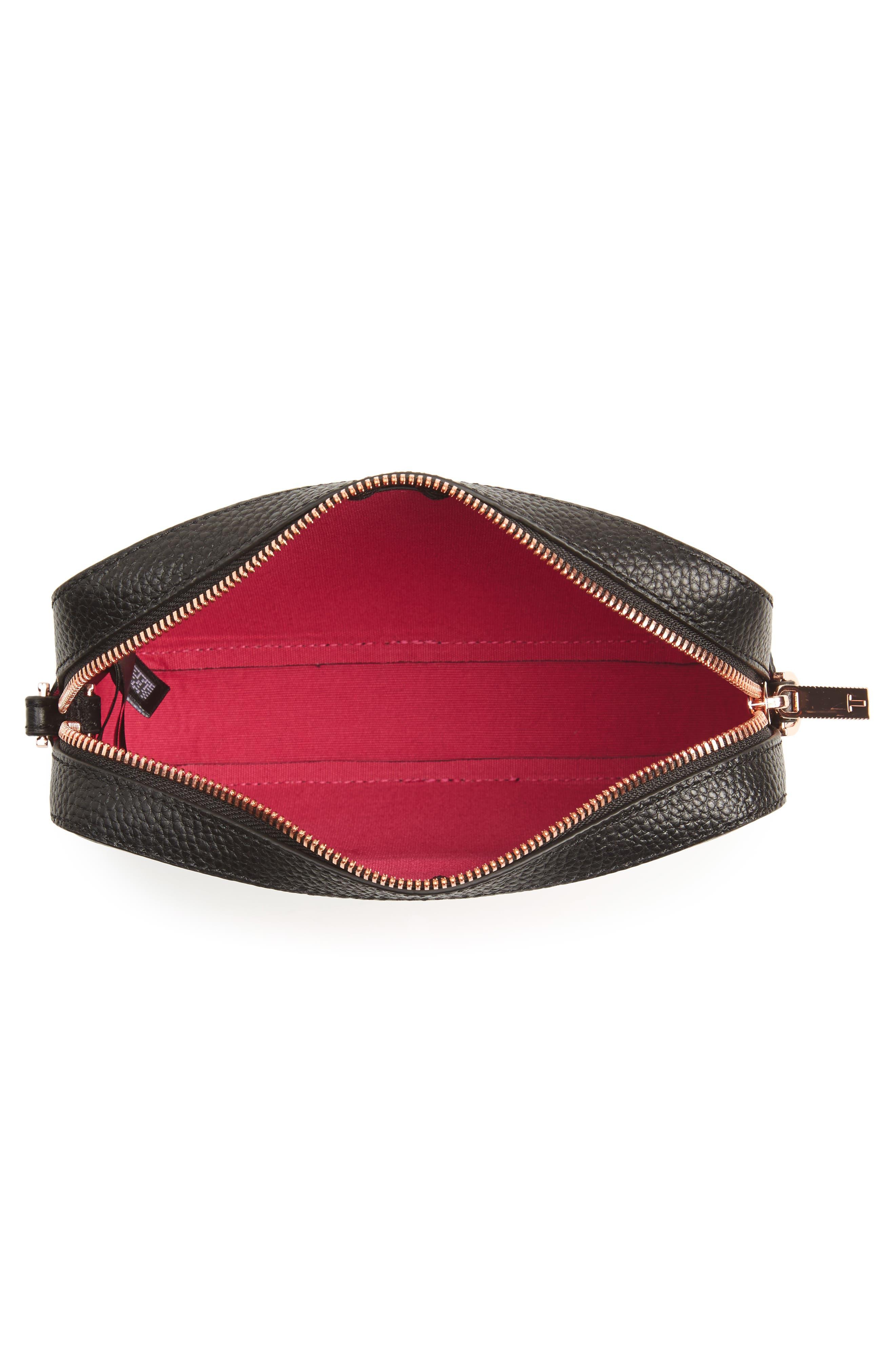 Susi Leather Crossbody Bag,                             Alternate thumbnail 4, color,                             001