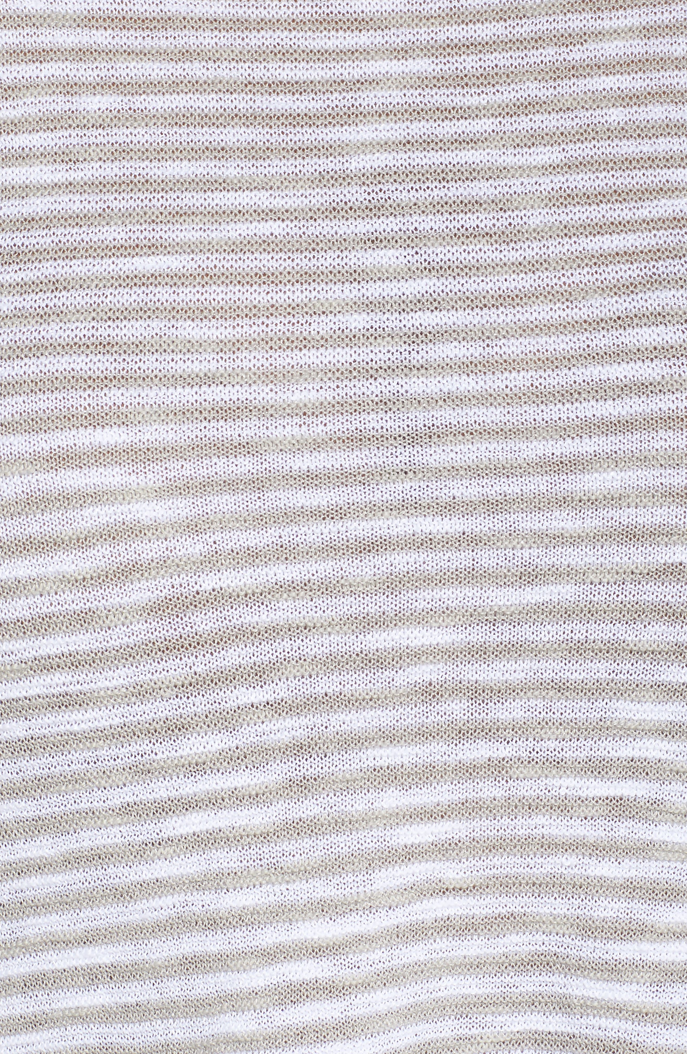 Stripe Organic Linen & Cotton Sweater,                             Alternate thumbnail 9, color,