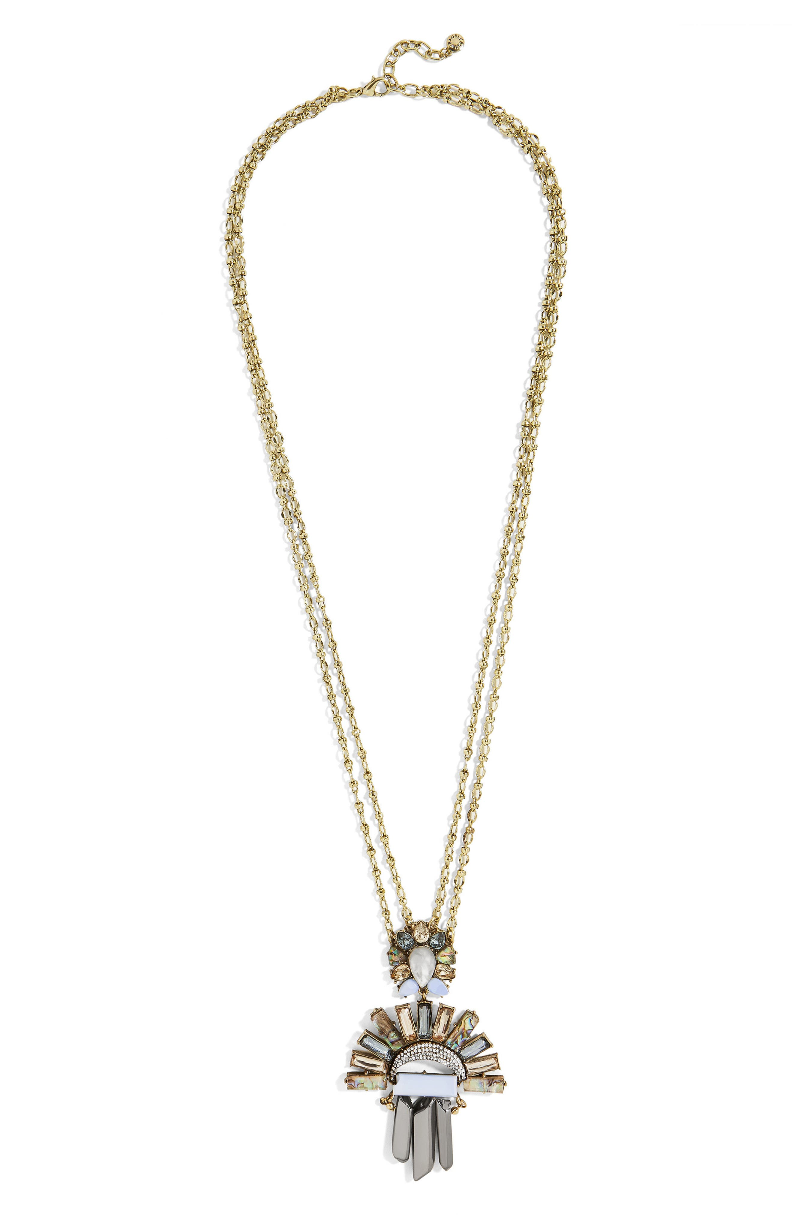 Torrence Crystal Necklace,                         Main,                         color, 400
