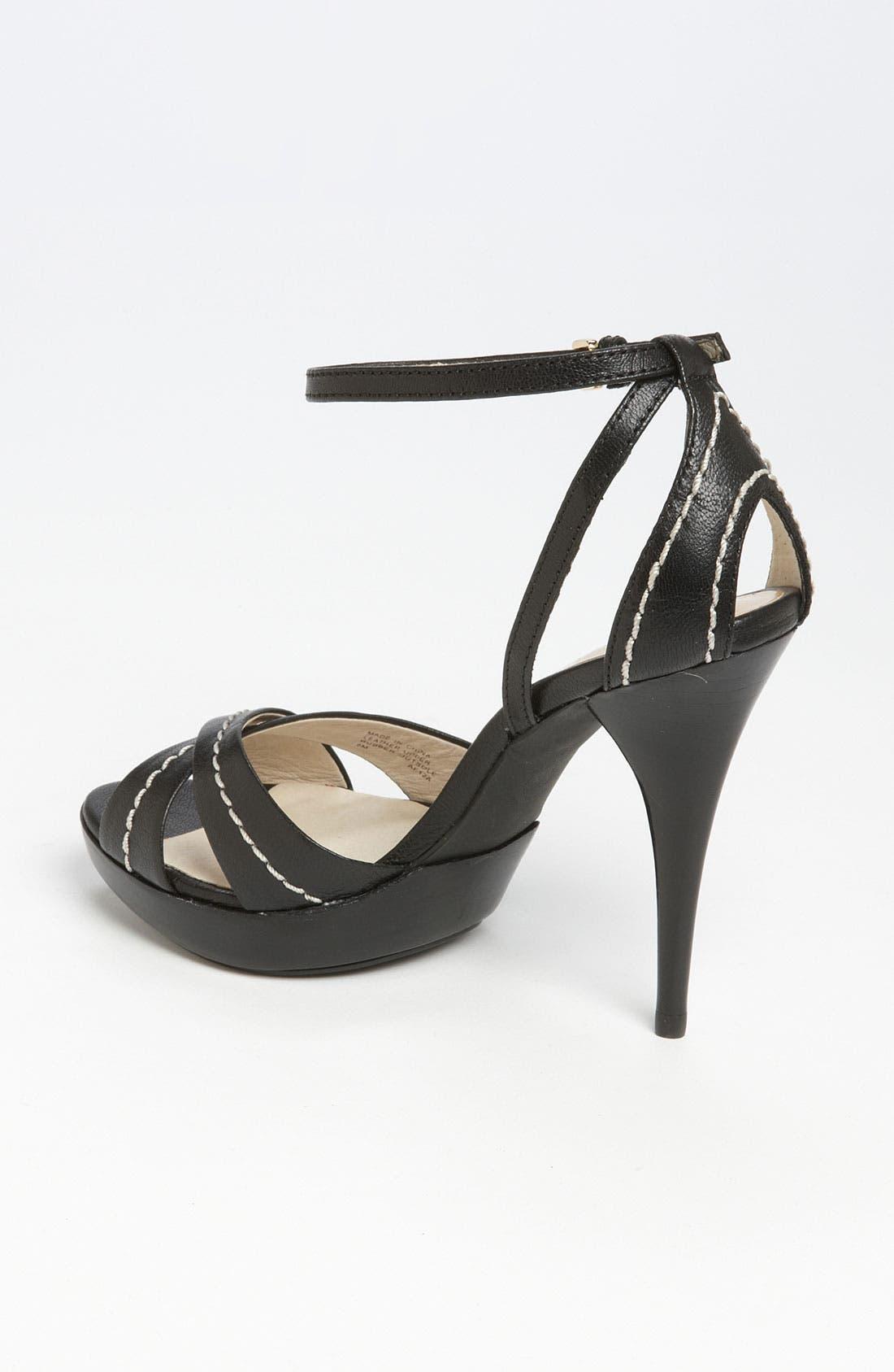 'Eleni' Platform Sandal,                             Alternate thumbnail 4, color,                             001