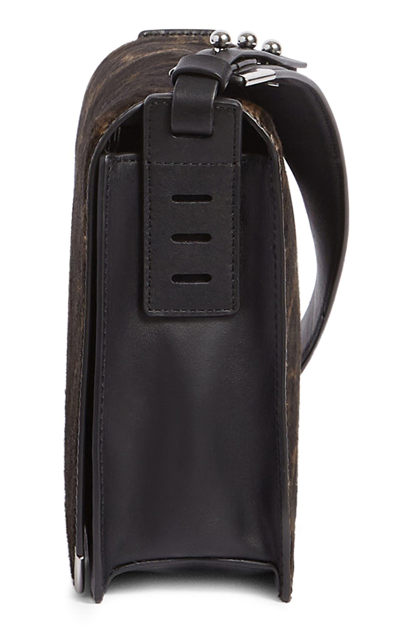 Vincent Genuine Calf Hair Shoulder Bag,                             Alternate thumbnail 4, color,                             LEOPARD/ BLACK