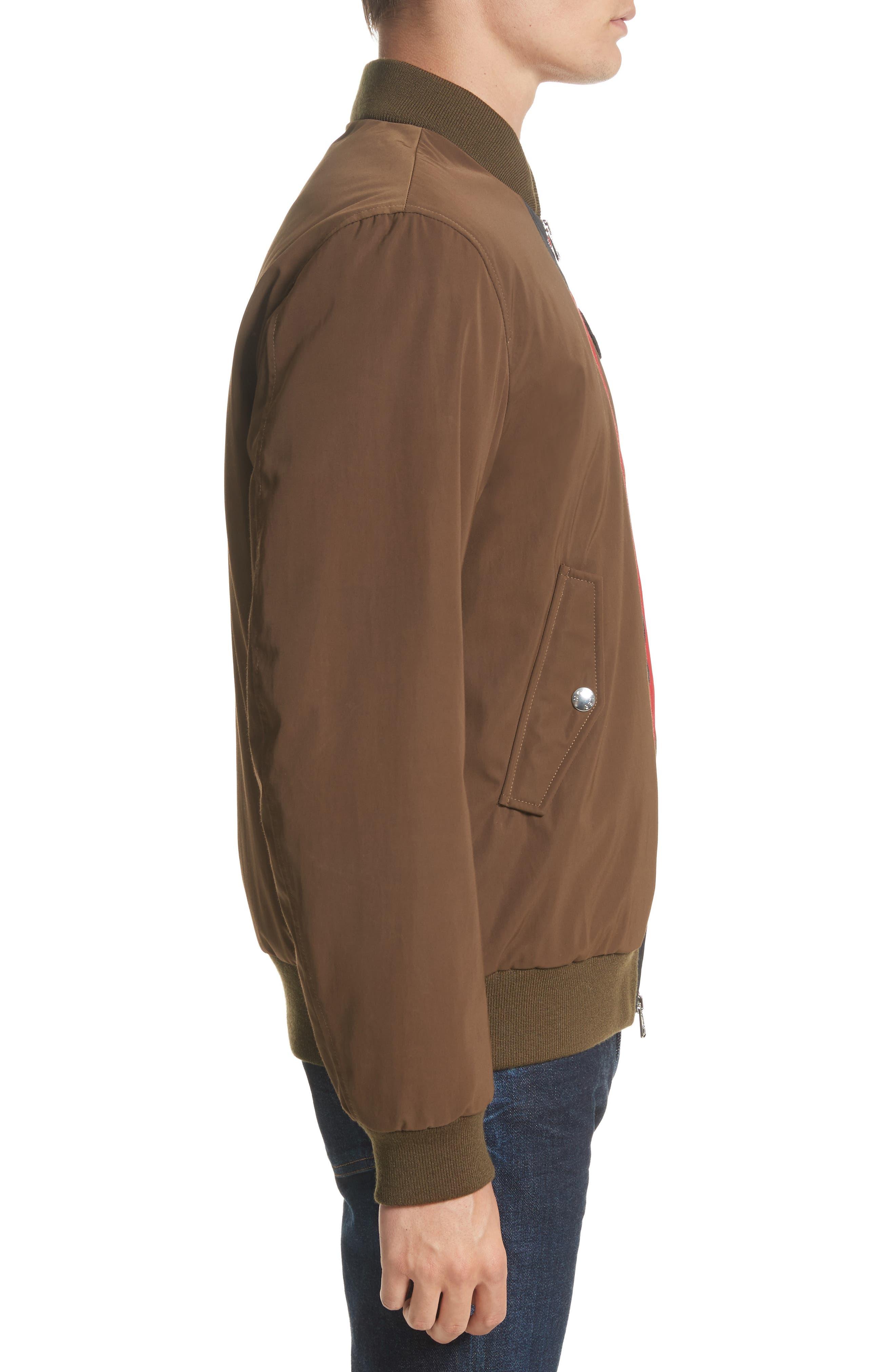 Tacna Stripe Bomber Jacket,                             Alternate thumbnail 3, color,                             300