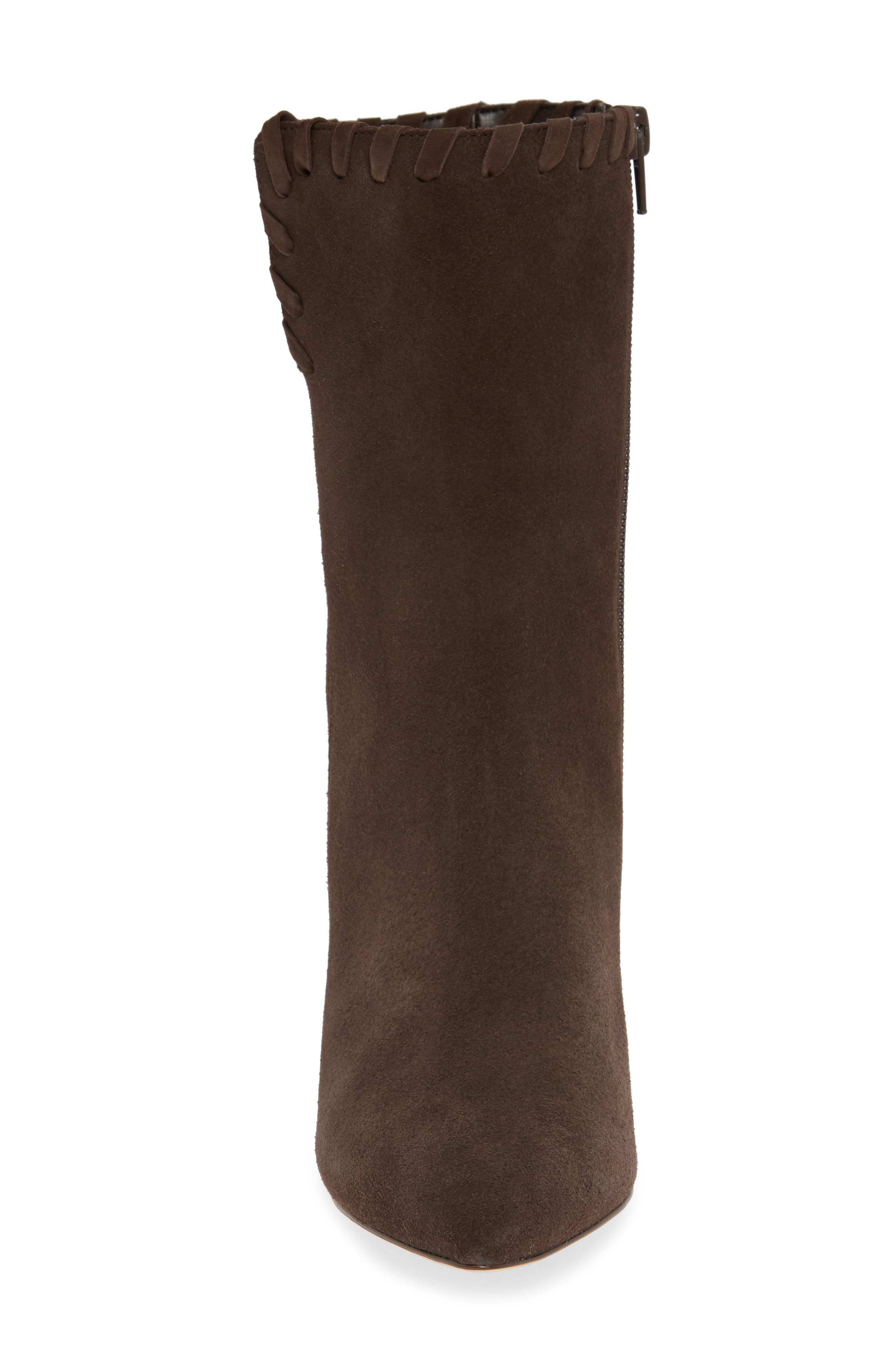 Camilla Bootie,                             Alternate thumbnail 4, color,                             CHOCOLATE SUEDE