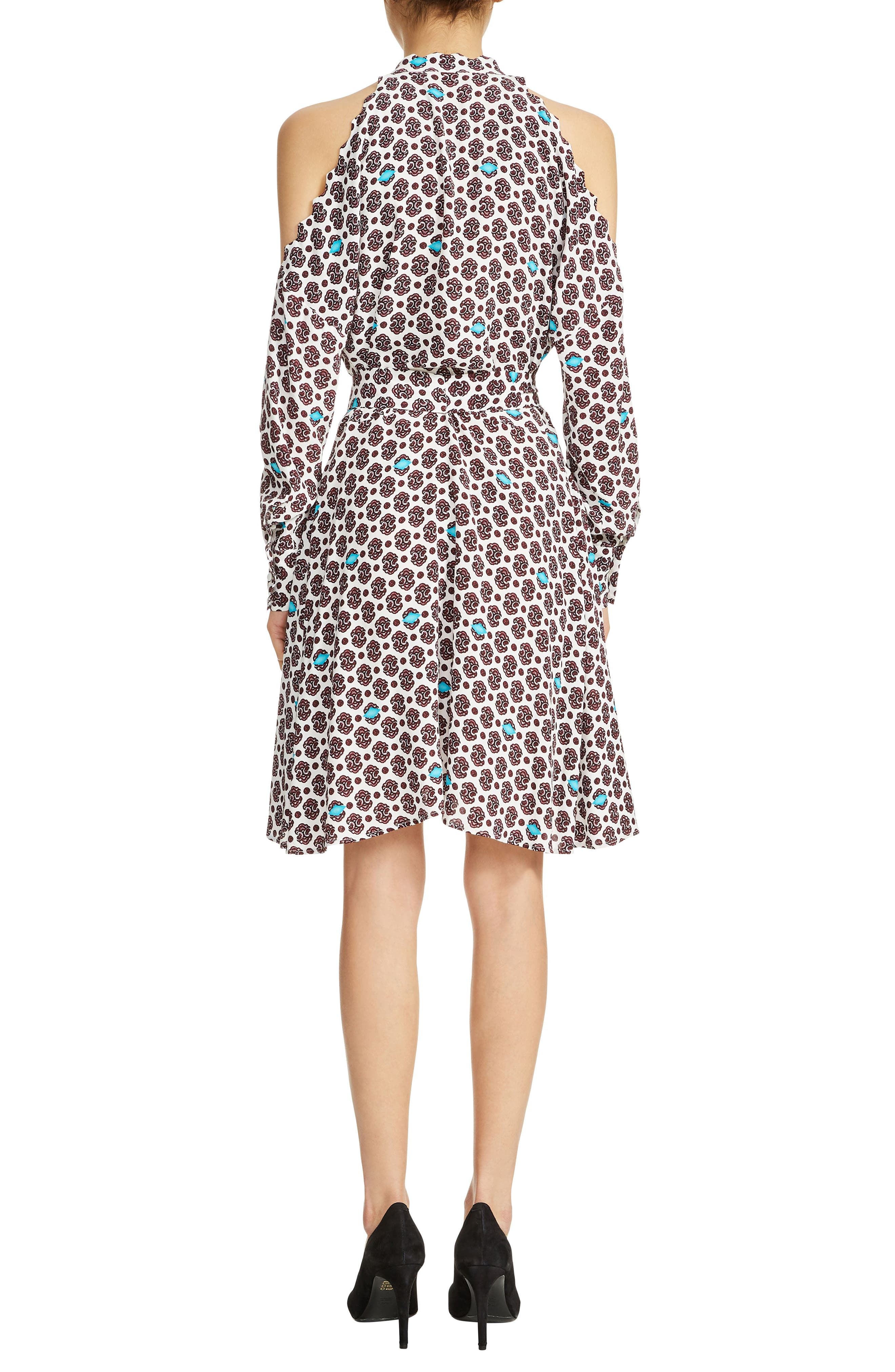 Ralinka Cold Shoulder Print Dress,                             Alternate thumbnail 2, color,