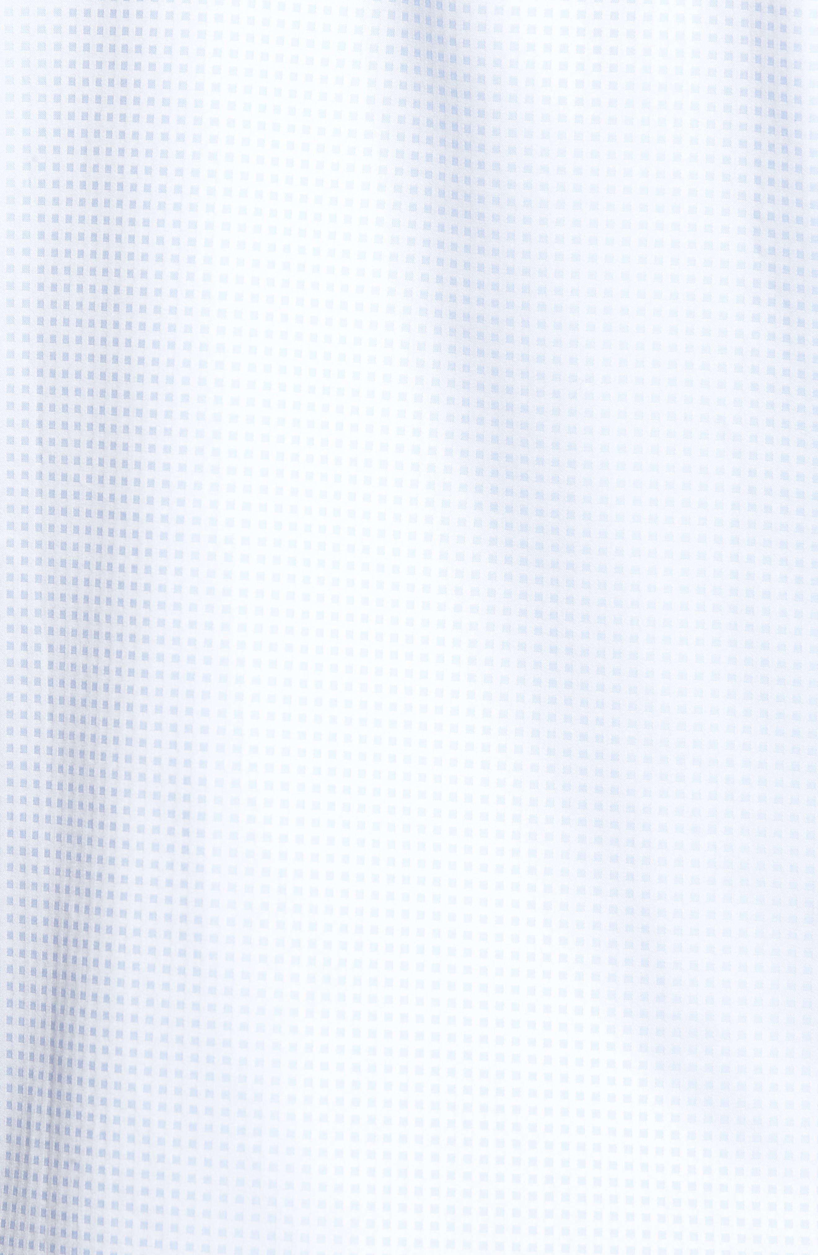 Classic Fit Pin Check Jacquard Sport Shirt,                             Alternate thumbnail 5, color,                             459