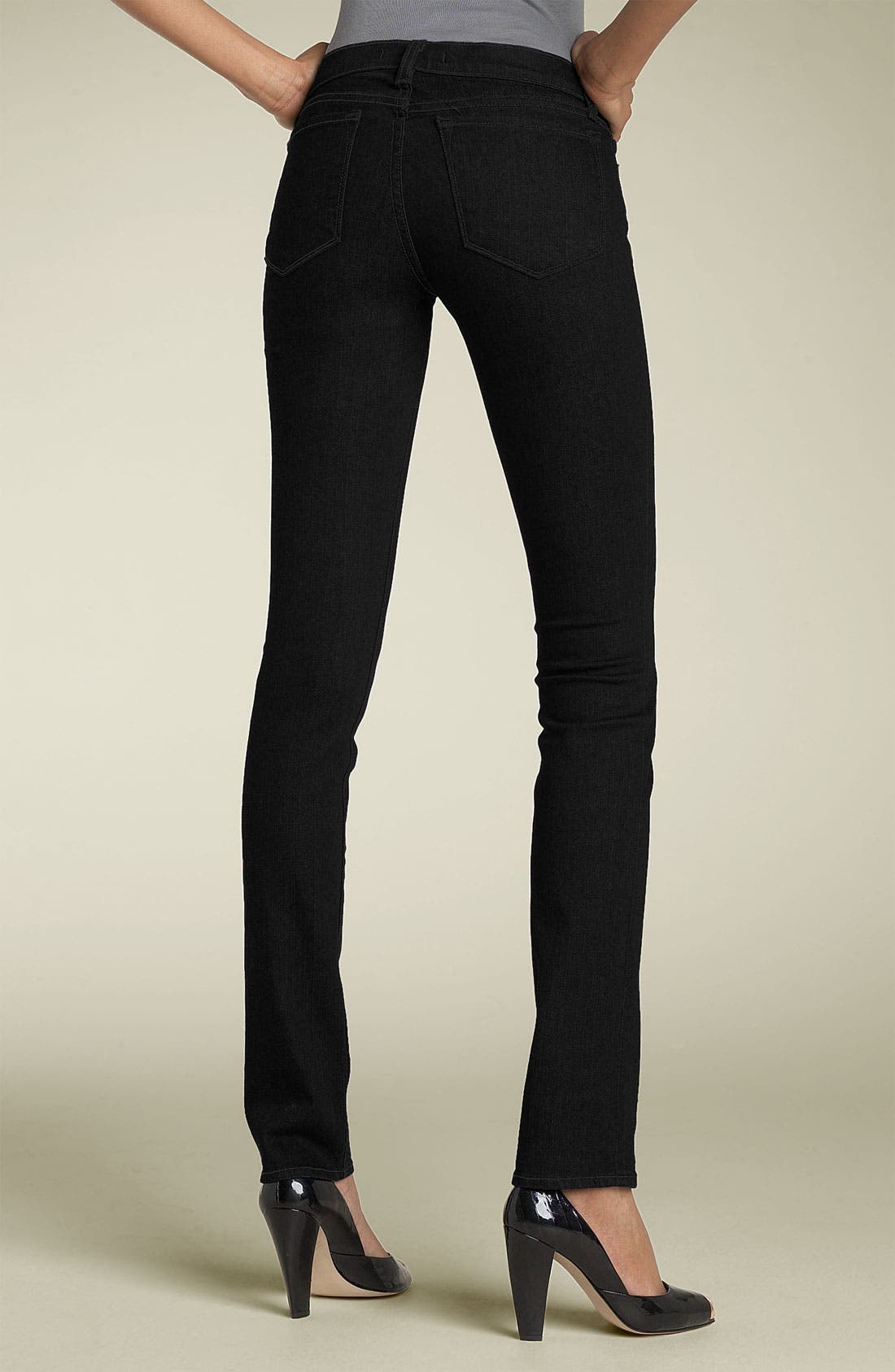 '912 The Pencil' Stretch Jeans,                             Main thumbnail 1, color,                             001