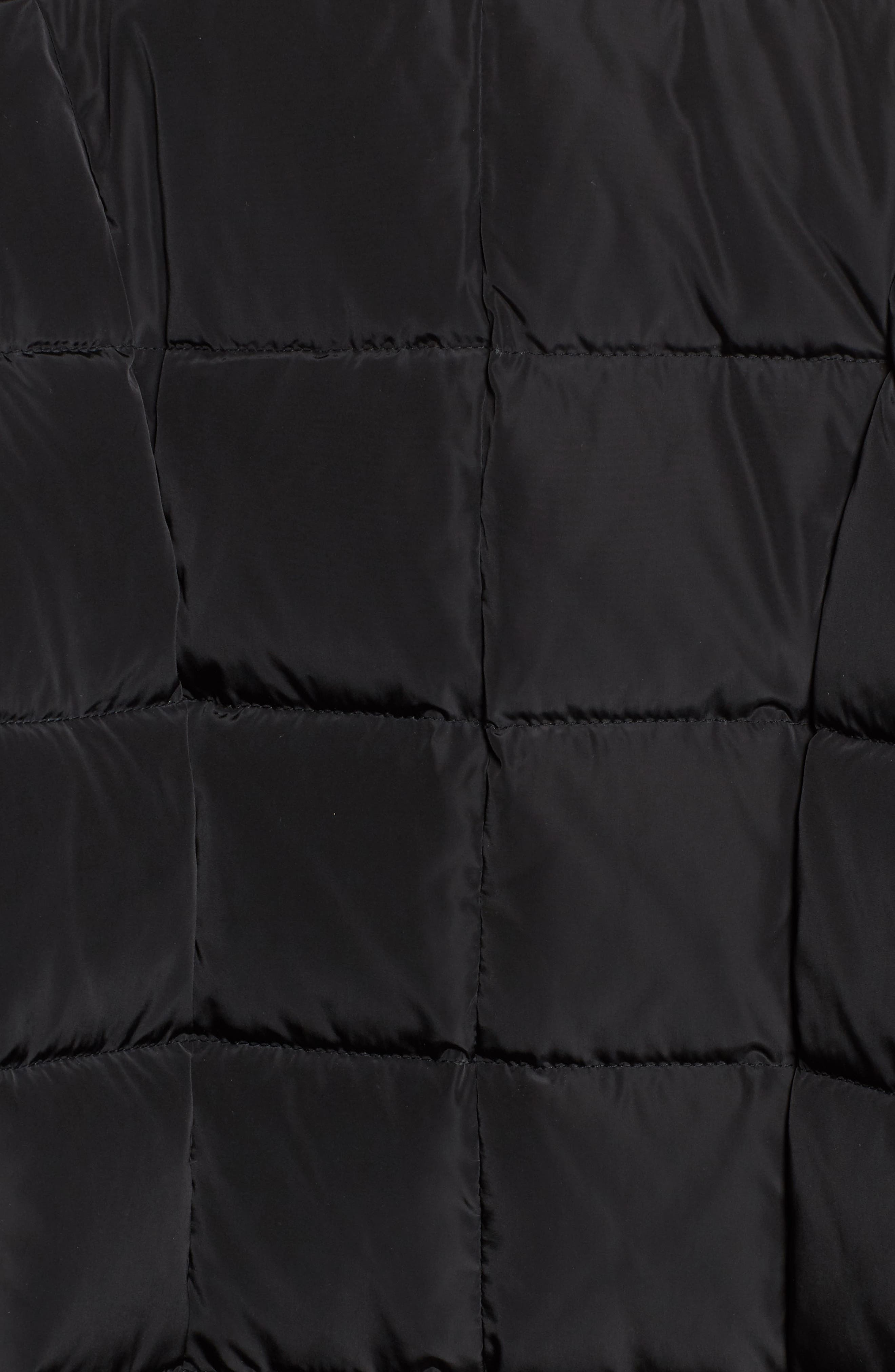 Down Coat with Faux Fur Trim,                             Alternate thumbnail 6, color,                             001