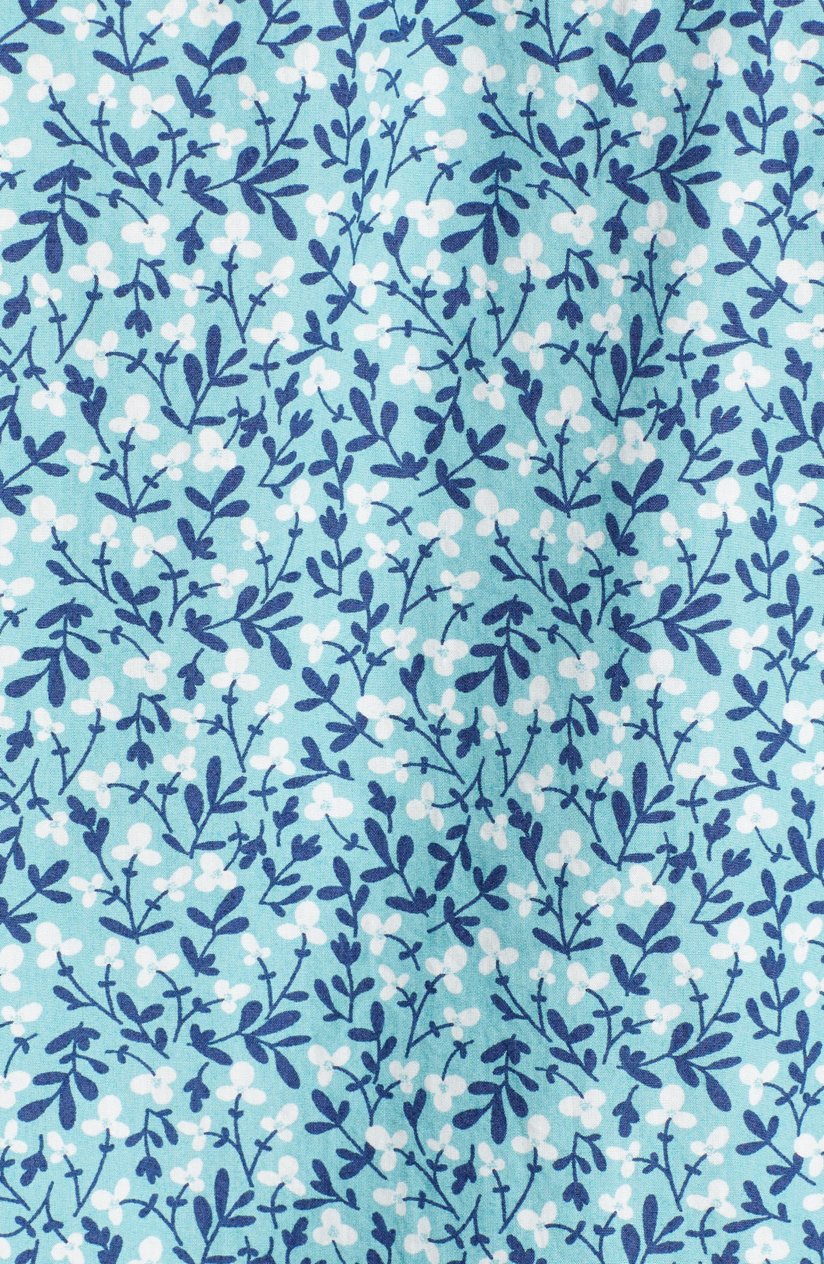PSYCHO BUNNY,                             Tiny Floral Camp Shirt,                             Alternate thumbnail 5, color,                             ULTRAMARINE