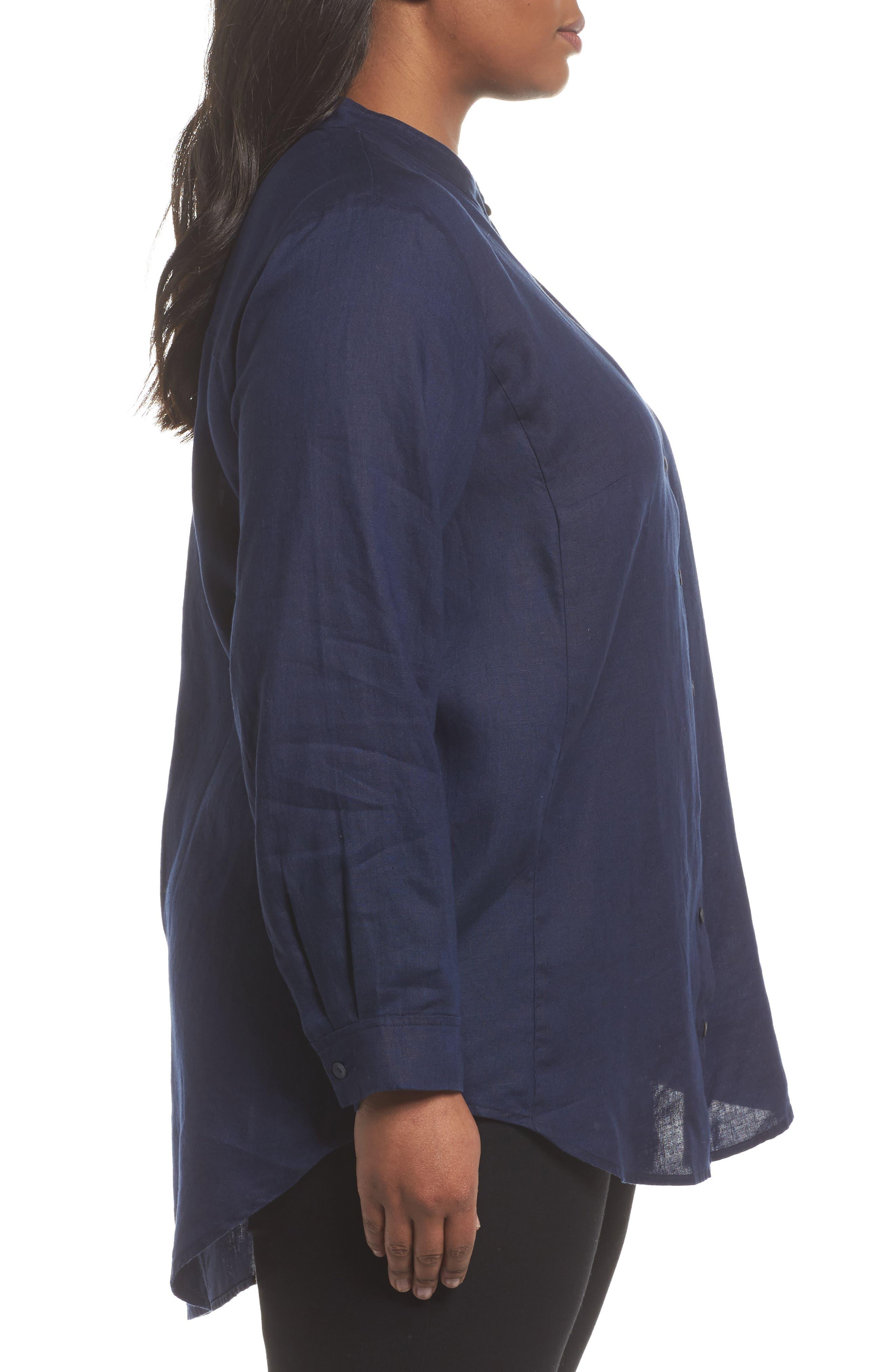 Organic Linen Tunic Shirt,                             Alternate thumbnail 9, color,