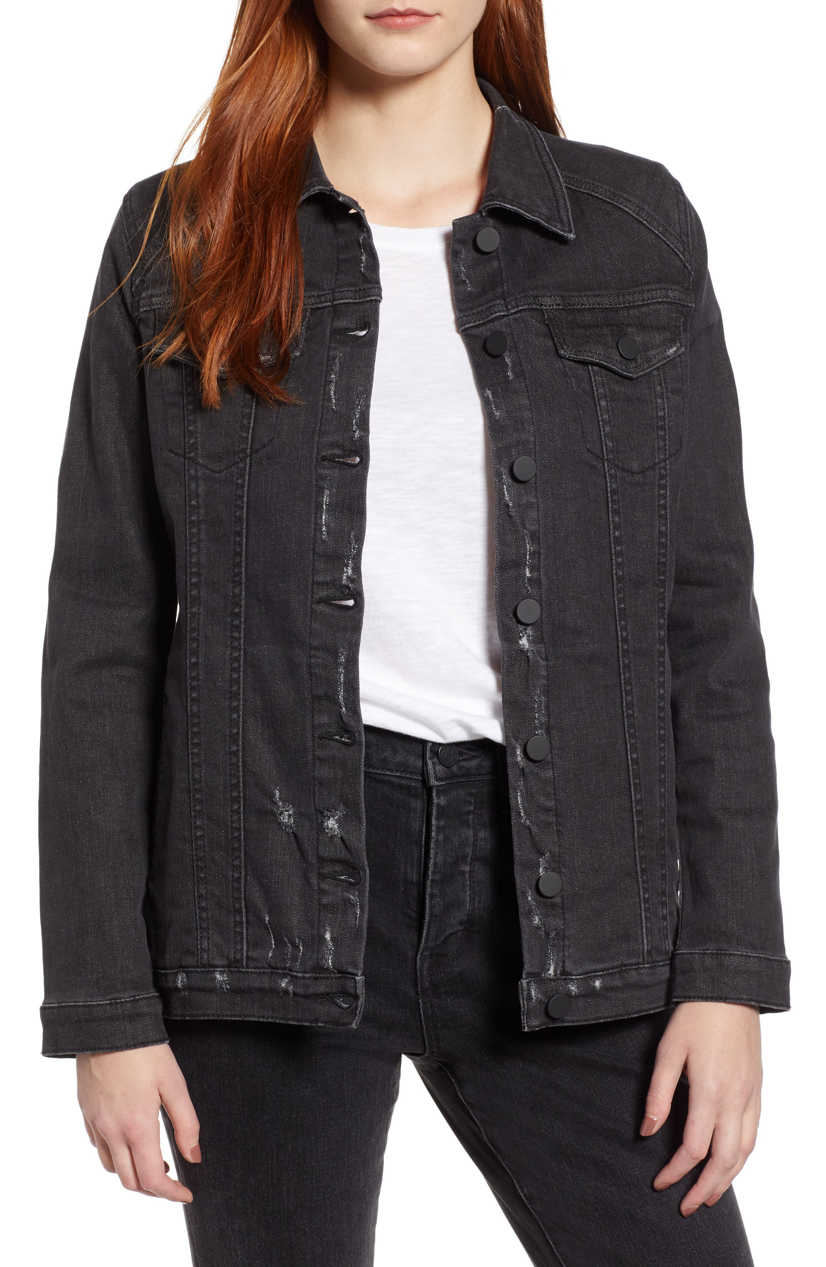 Dear John Denim Madison Girlfriend Jacket, Black
