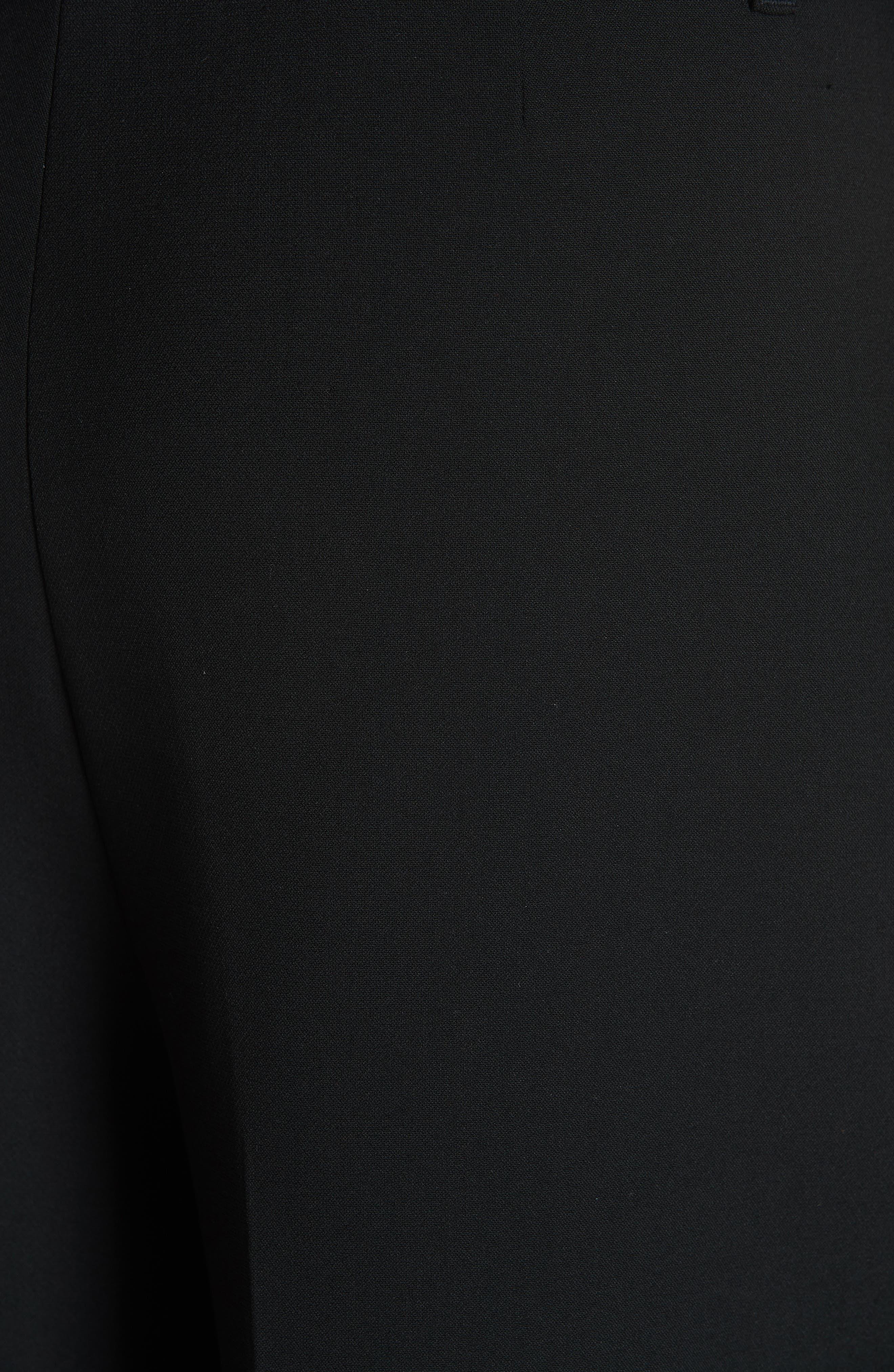 Belted Wide Leg Pants,                             Alternate thumbnail 5, color,                             BLACK