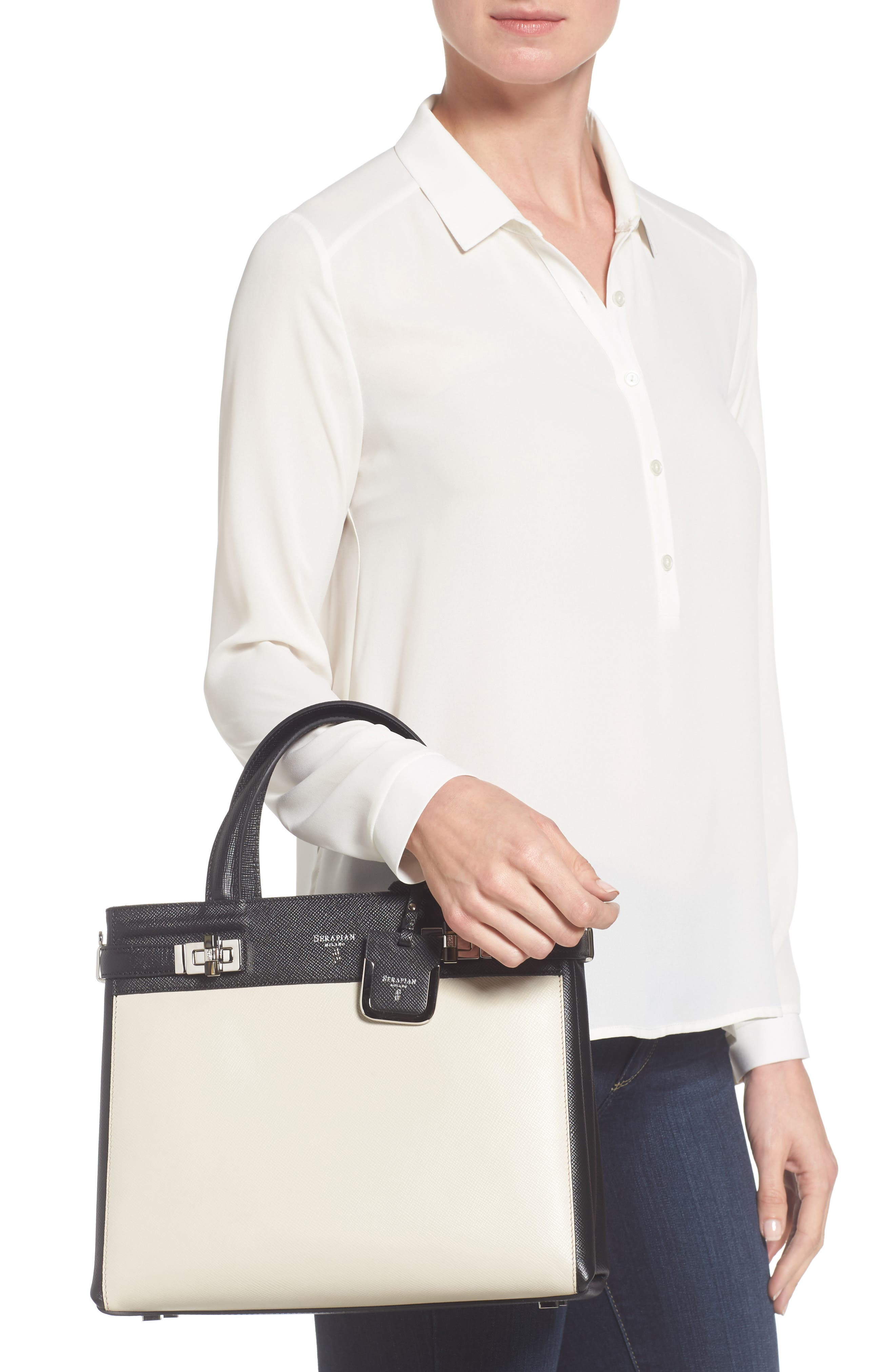 Small Meline Evolution Leather Bag,                             Alternate thumbnail 6, color,