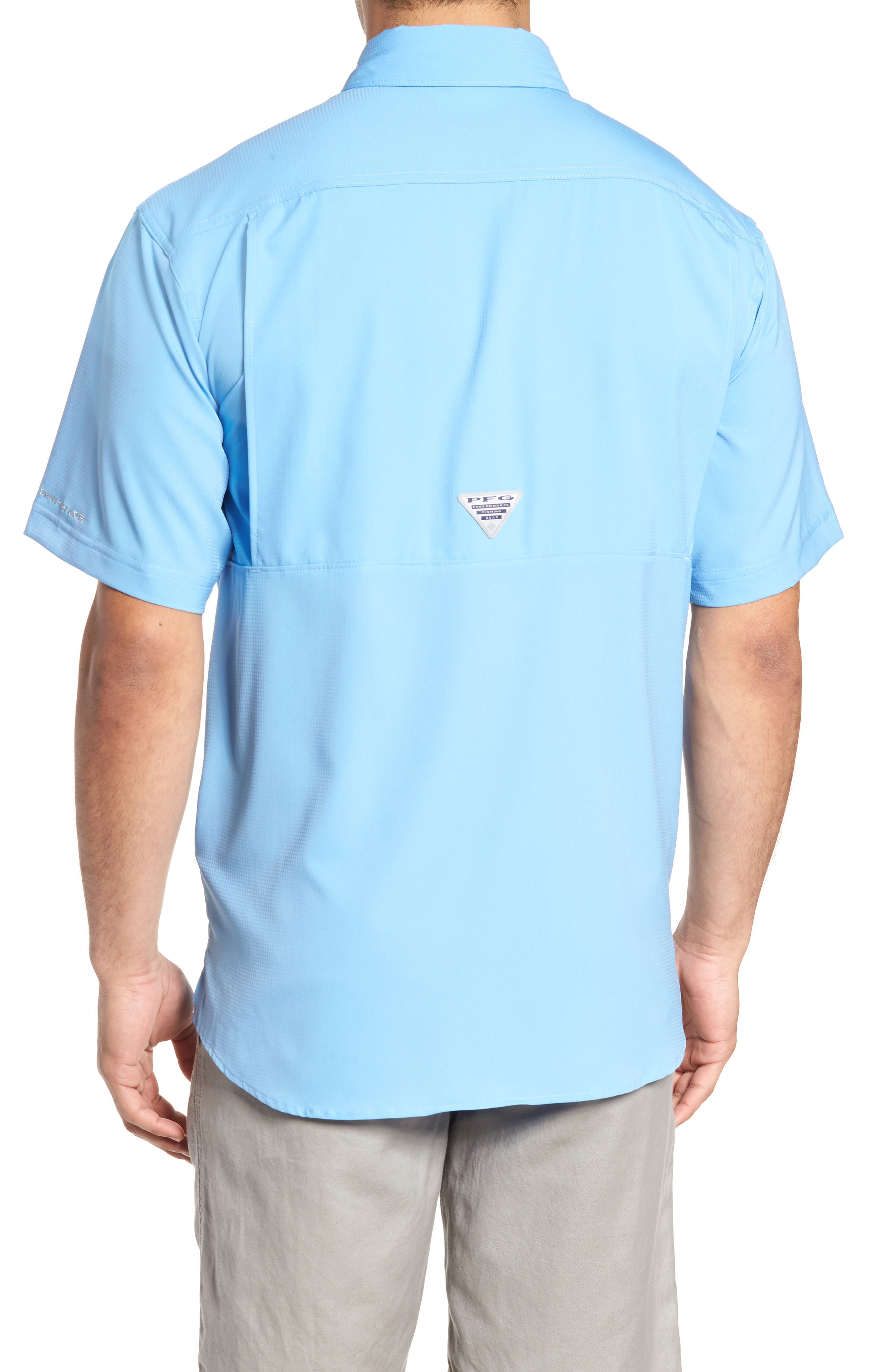 PFG Low Drag Offshore Woven Shirt,                             Alternate thumbnail 6, color,