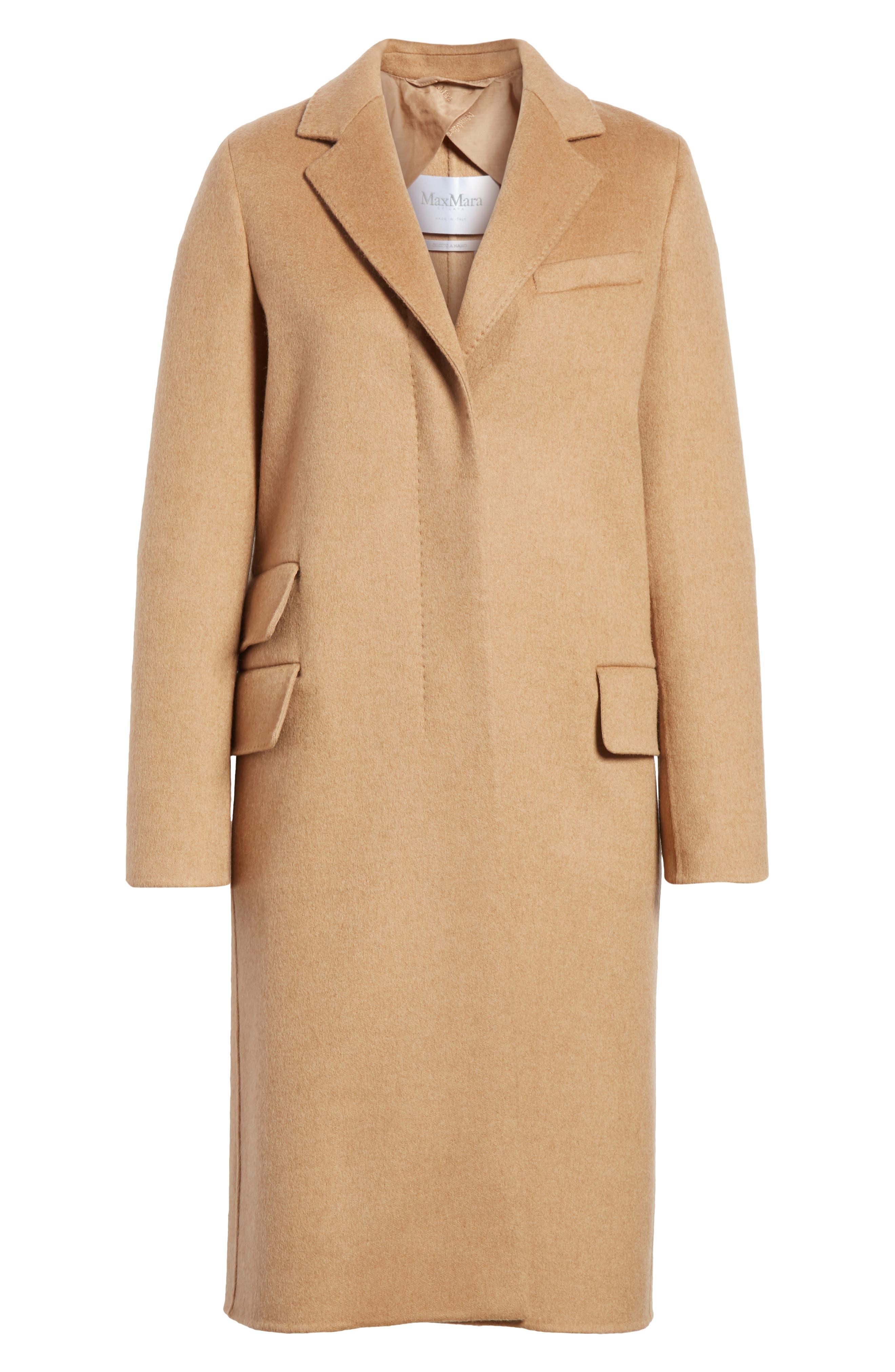 Aureo Camel Hair Coat,                             Alternate thumbnail 5, color,                             232
