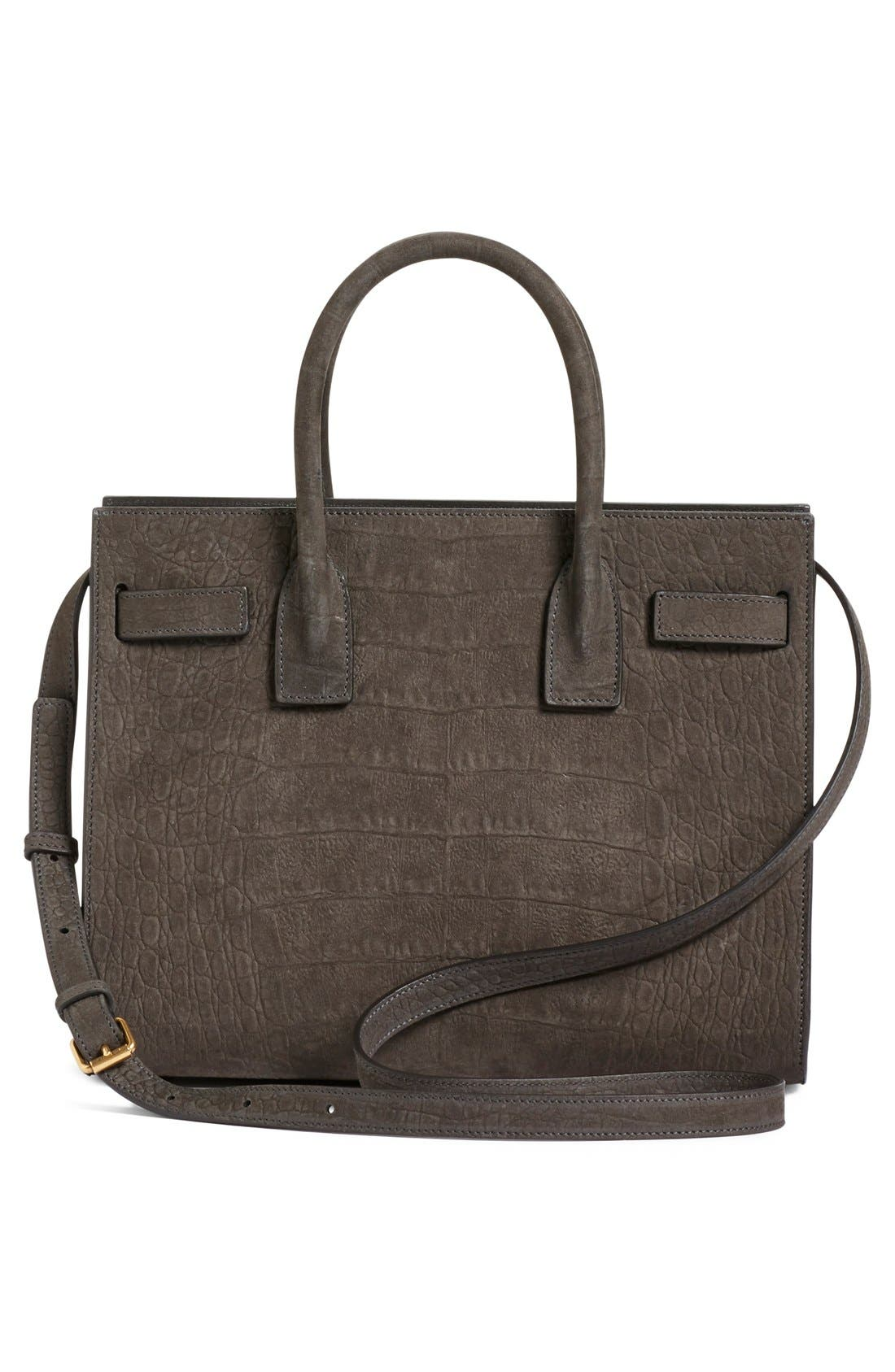 'Baby Sac de Jour' Croc Embossed Leather Tote,                             Alternate thumbnail 4, color,                             022