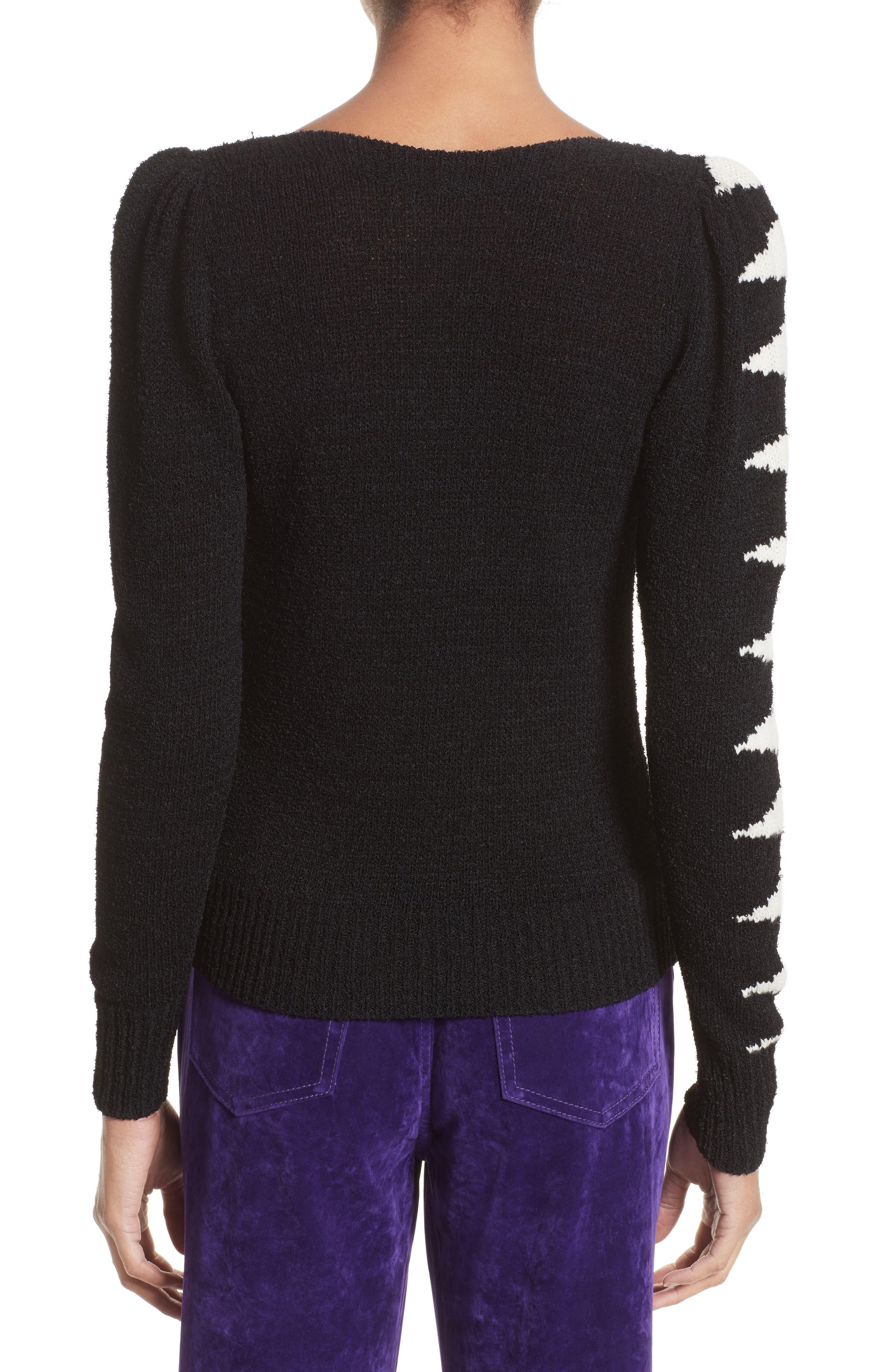 40s Intarsia Sweater,                             Alternate thumbnail 2, color,
