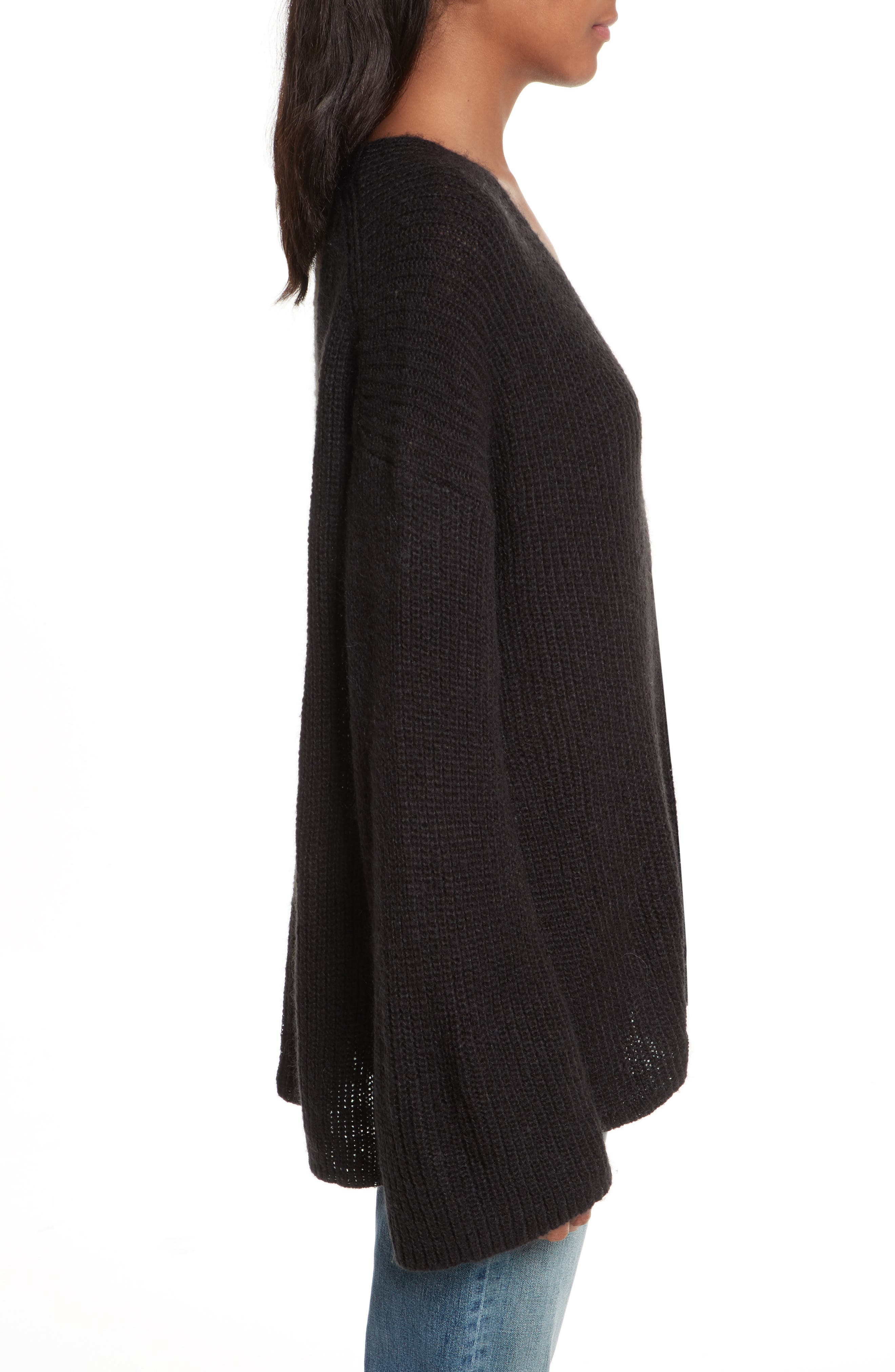 Remi Oversize Sweater,                             Alternate thumbnail 3, color,                             001