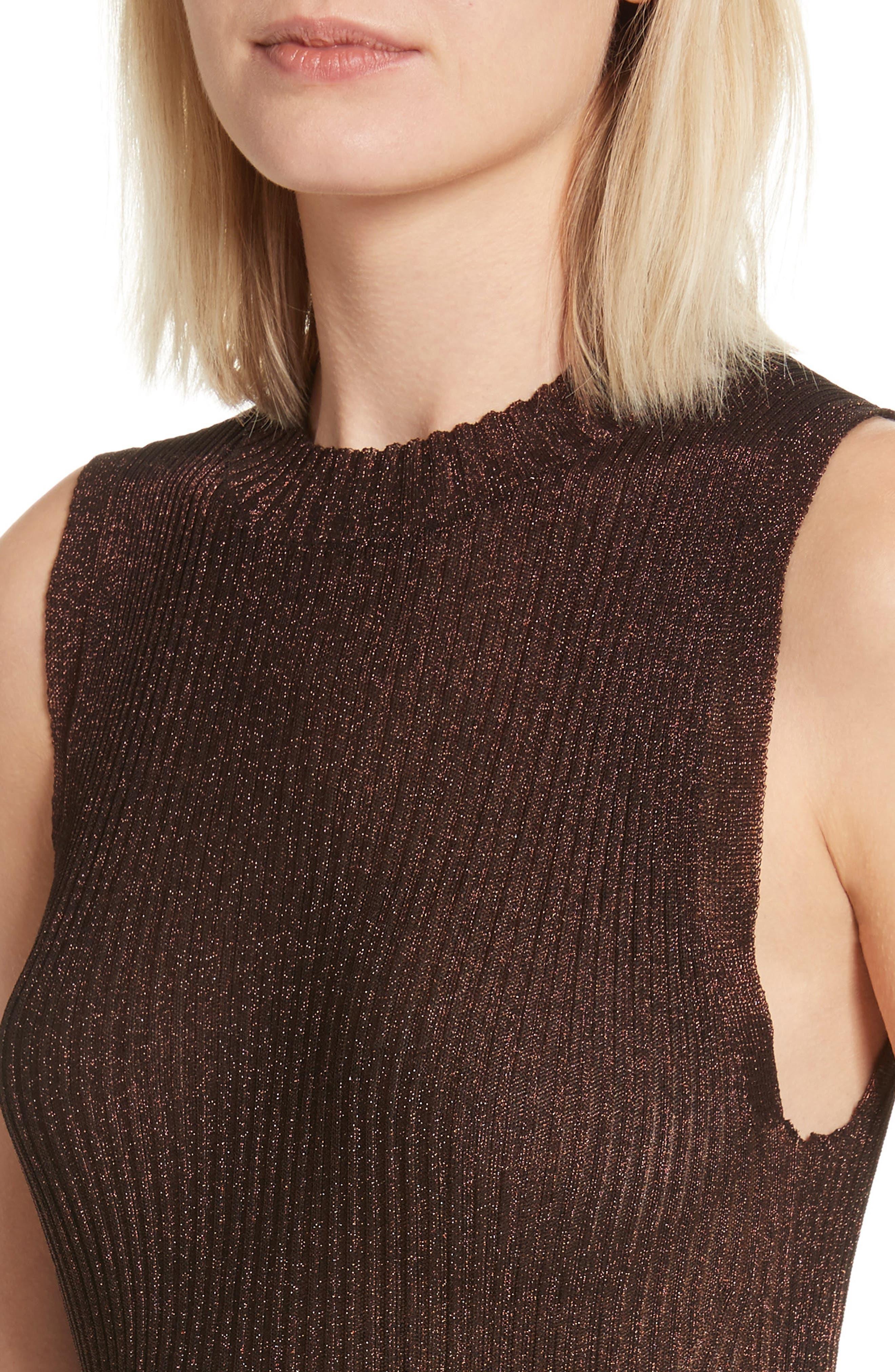 Halsey Metallic Sweater Tank,                             Alternate thumbnail 4, color,                             220