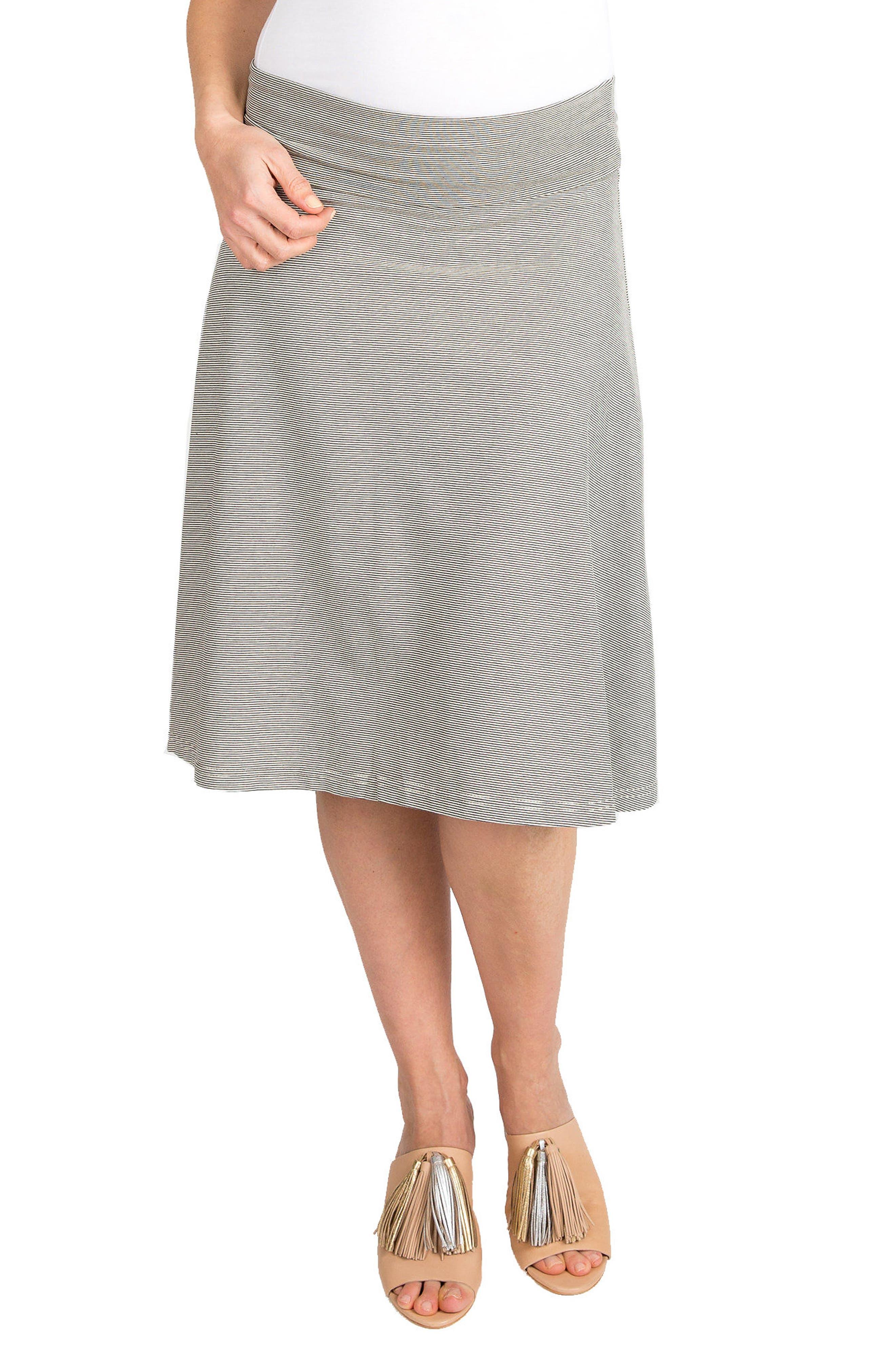 Nom Nola Maternity Skirt, Grey