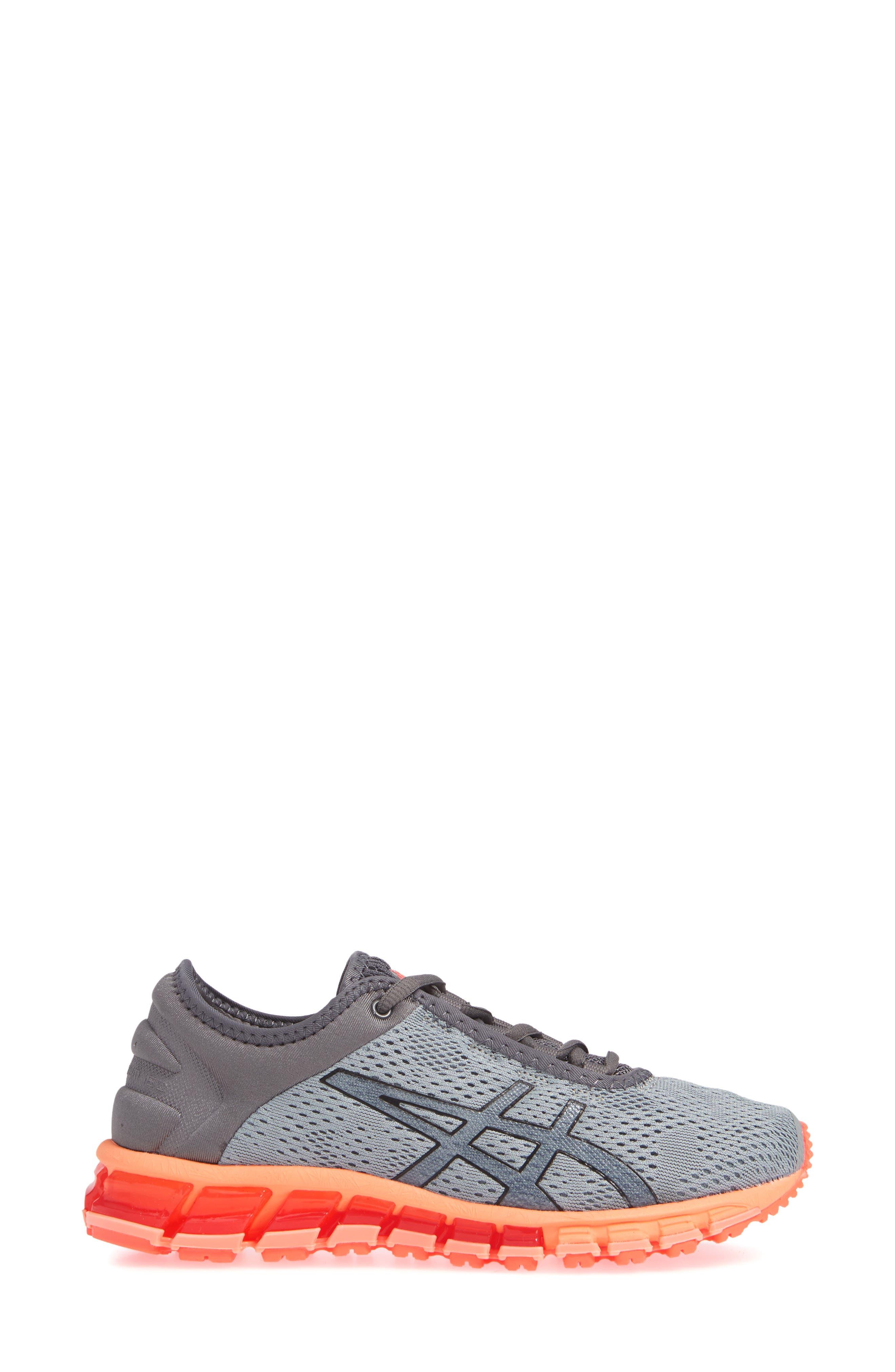GEL Quantum 180 3 Running Shoe,                             Alternate thumbnail 3, color,                             STONE GREY/ CARBON