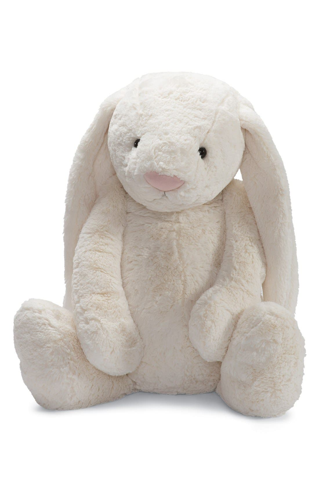 'Huge Bashful Bunny' Stuffed Animal,                             Main thumbnail 1, color,                             CREAM