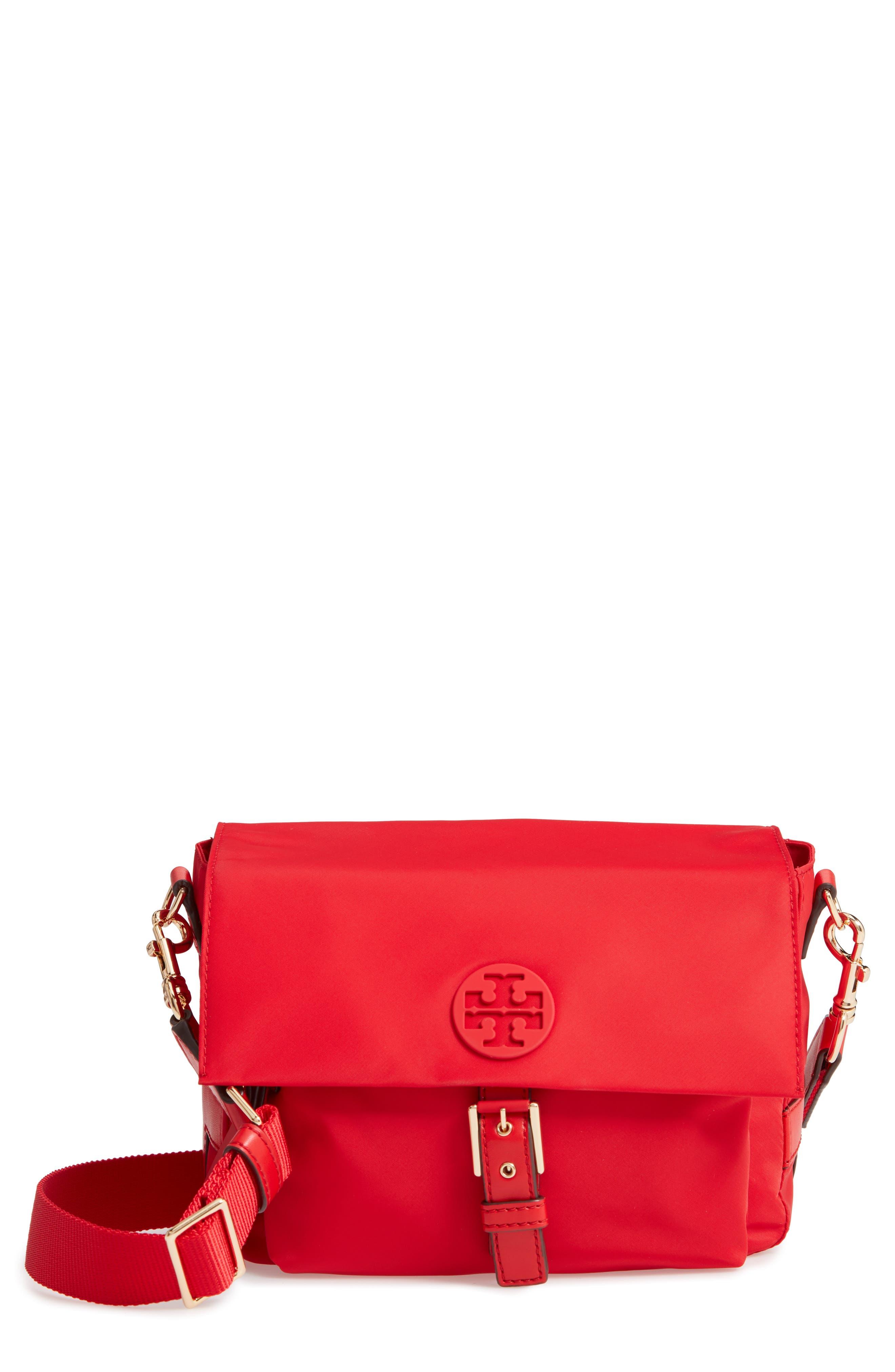 Tilda Nylon Crossbody Bag,                         Main,                         color, BRILLIANT RED
