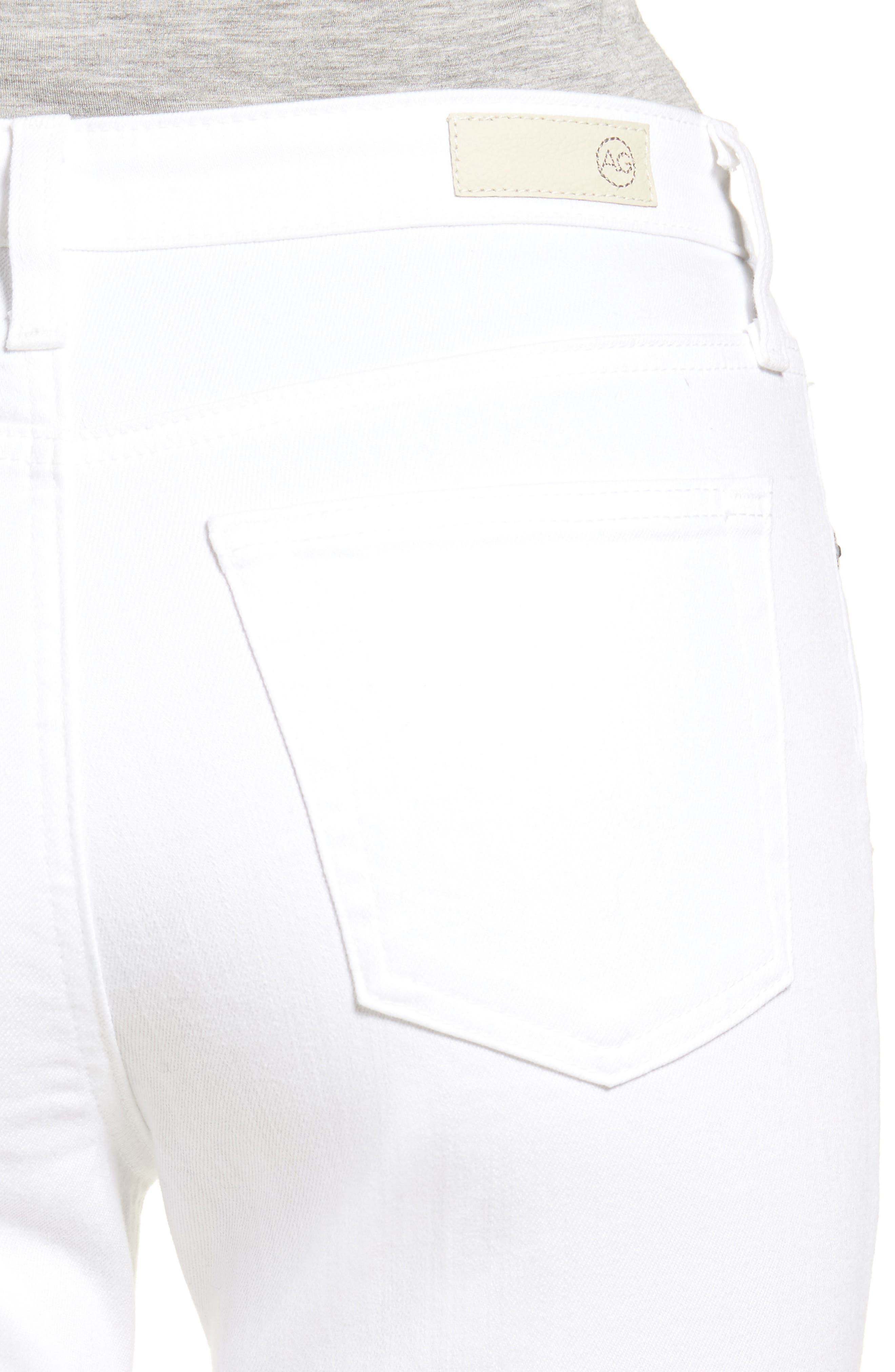 The Isabelle High Waist Crop Straight Leg Jeans,                             Alternate thumbnail 4, color,                             01 YEARS - WHITE