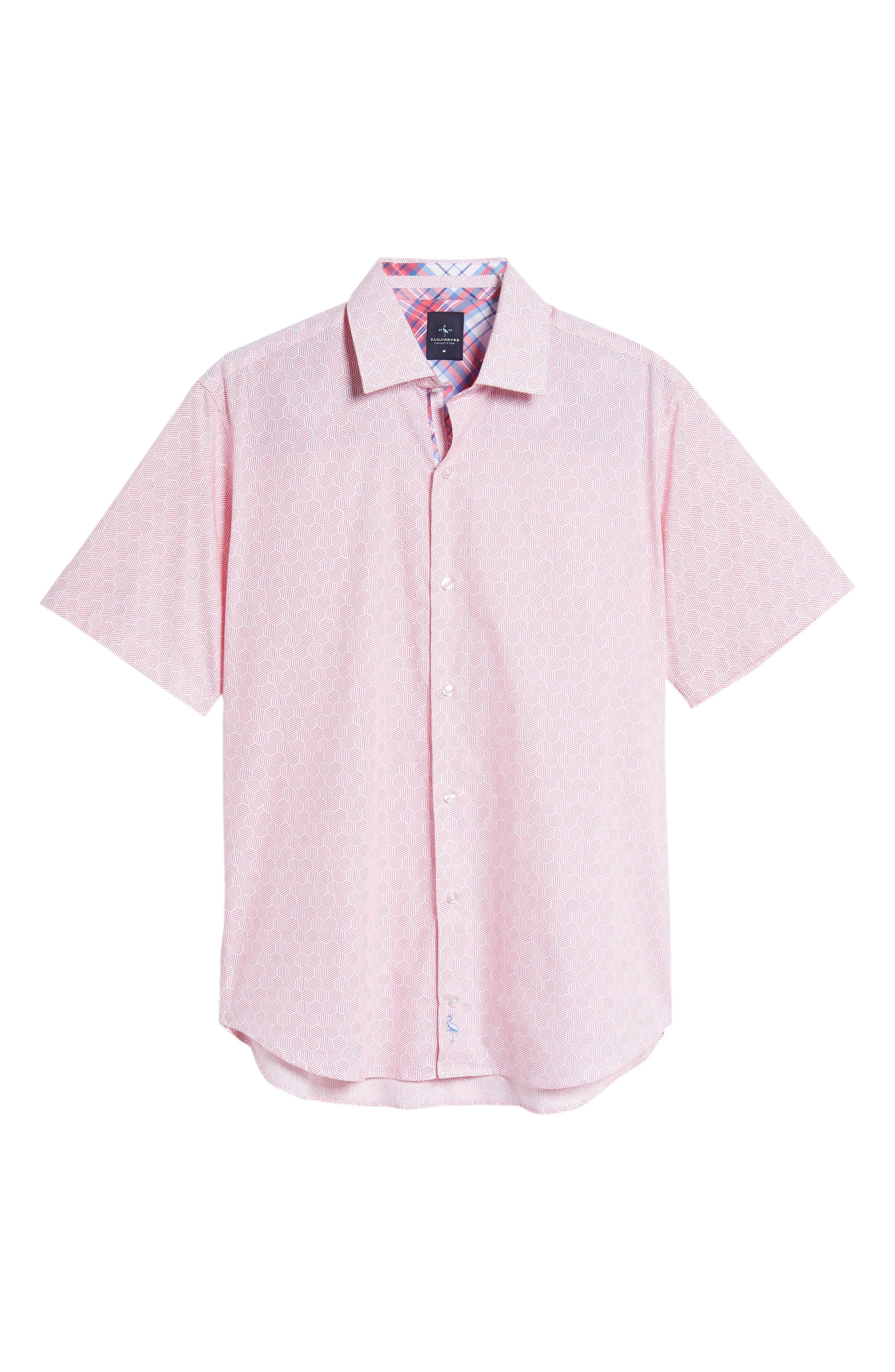 Averon Regular Fit Print Sport Shirt,                             Alternate thumbnail 6, color,                             650