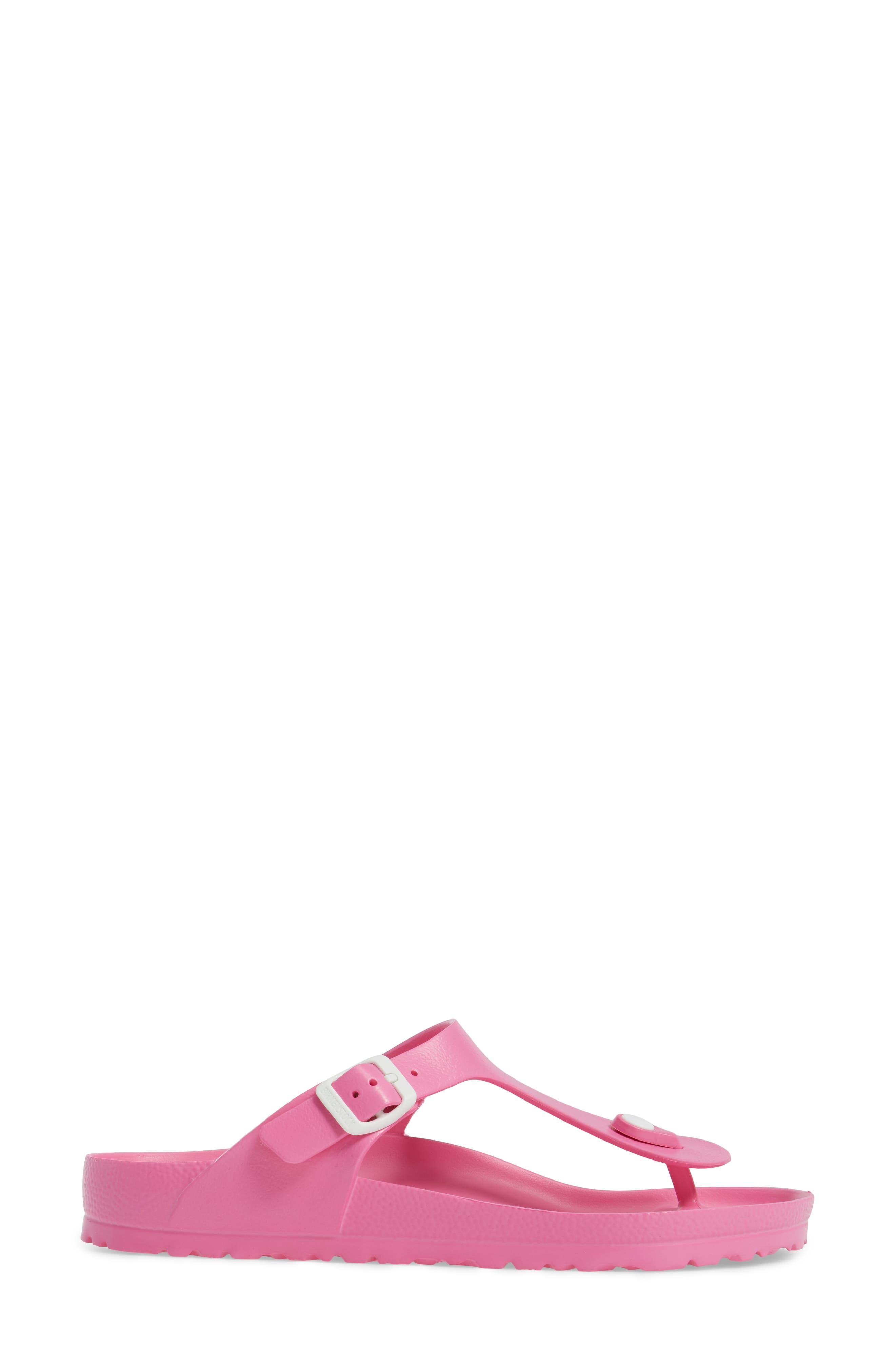 Essentials - Gizeh Flip Flop,                             Alternate thumbnail 3, color,                             NEON PINK