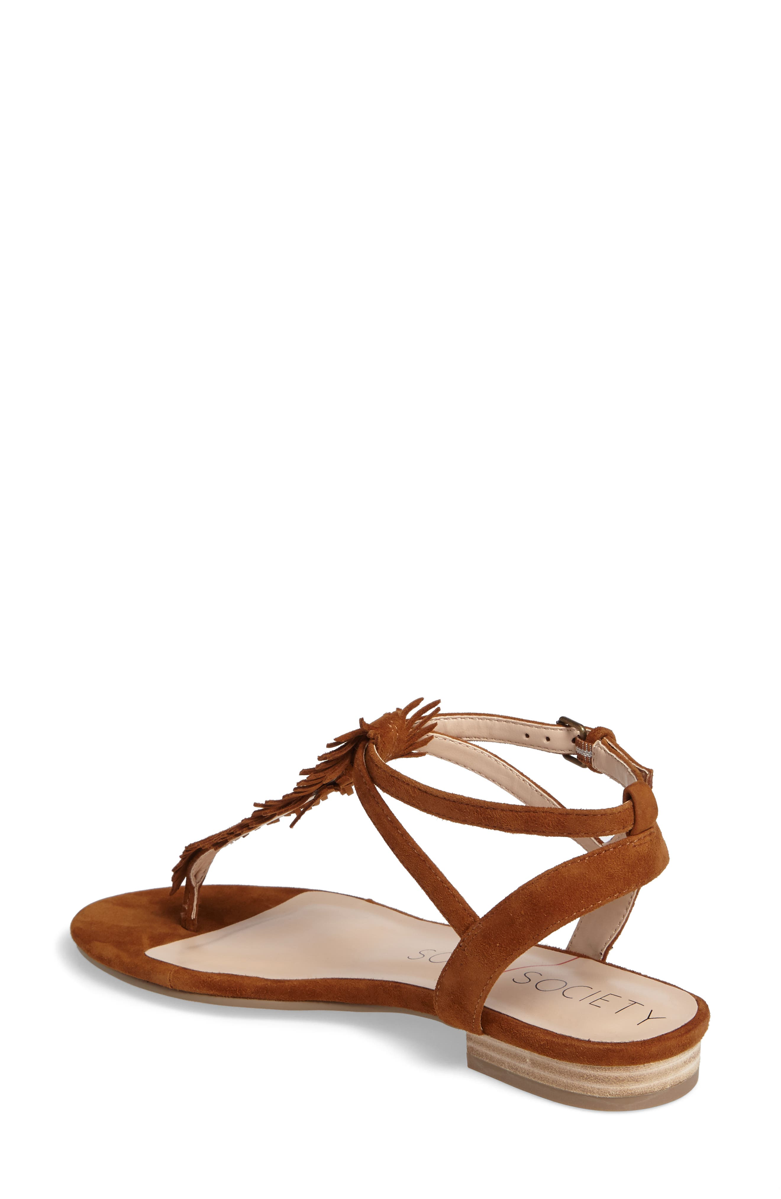 Mara Fringe Thong Sandal,                             Alternate thumbnail 2, color,                             210