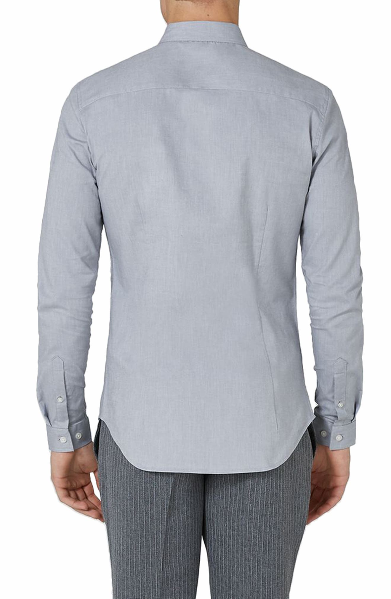 Muscle Fit Oxford Shirt,                             Alternate thumbnail 2, color,                             GREY