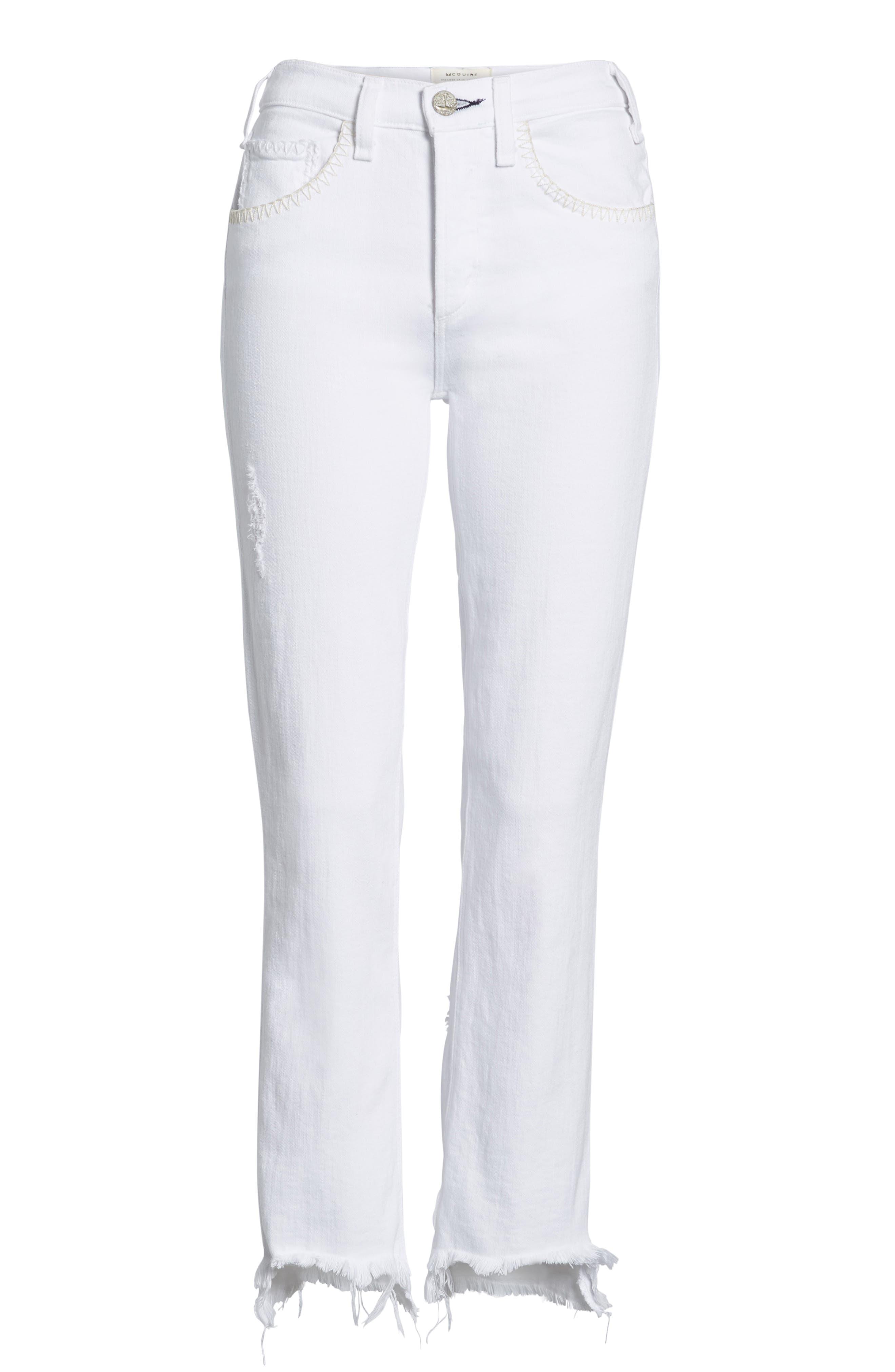 Valetta Step Hem Straight Leg Jeans,                             Alternate thumbnail 7, color,                             SIDARI
