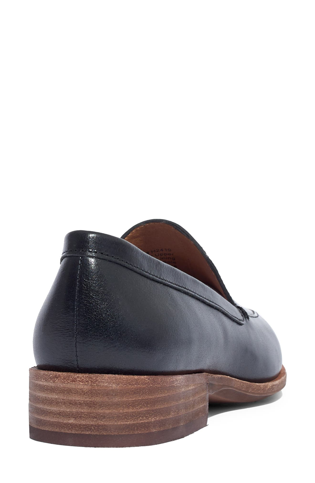 The Frances Loafer,                             Alternate thumbnail 10, color,                             TRUE BLACK LEATHER