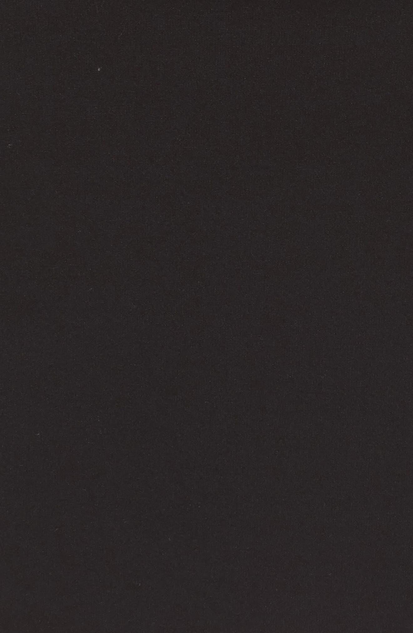 Ponte Skirt,                             Alternate thumbnail 5, color,                             BLACK