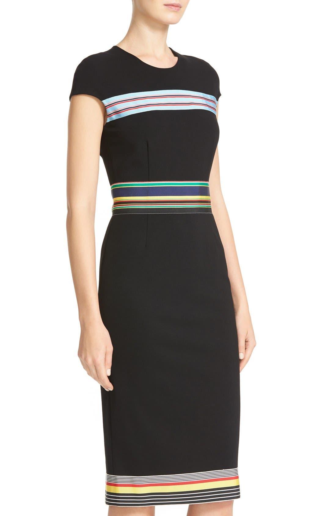 Hadlie Sheath Dress,                             Alternate thumbnail 6, color,                             001