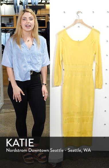 Illusion Stripe Midi Dress, sales video thumbnail