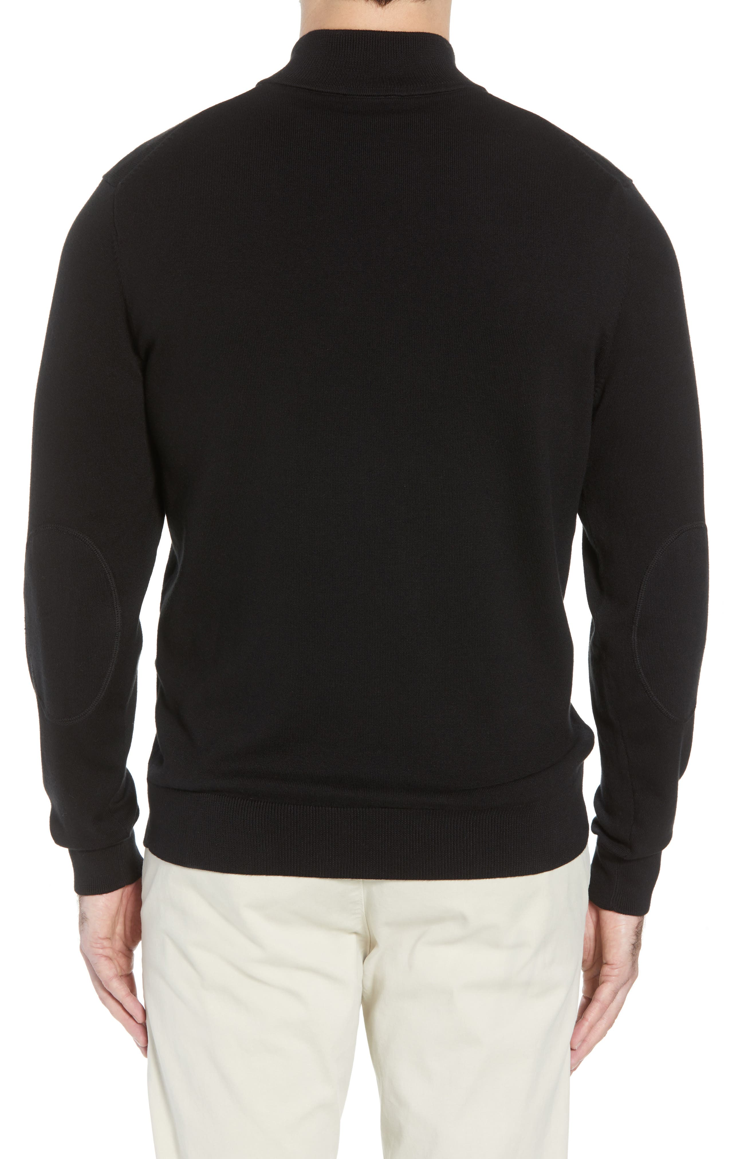 San Francisco 49ers - Lakemont Regular Fit Quarter Zip Sweater,                             Alternate thumbnail 2, color,                             BLACK