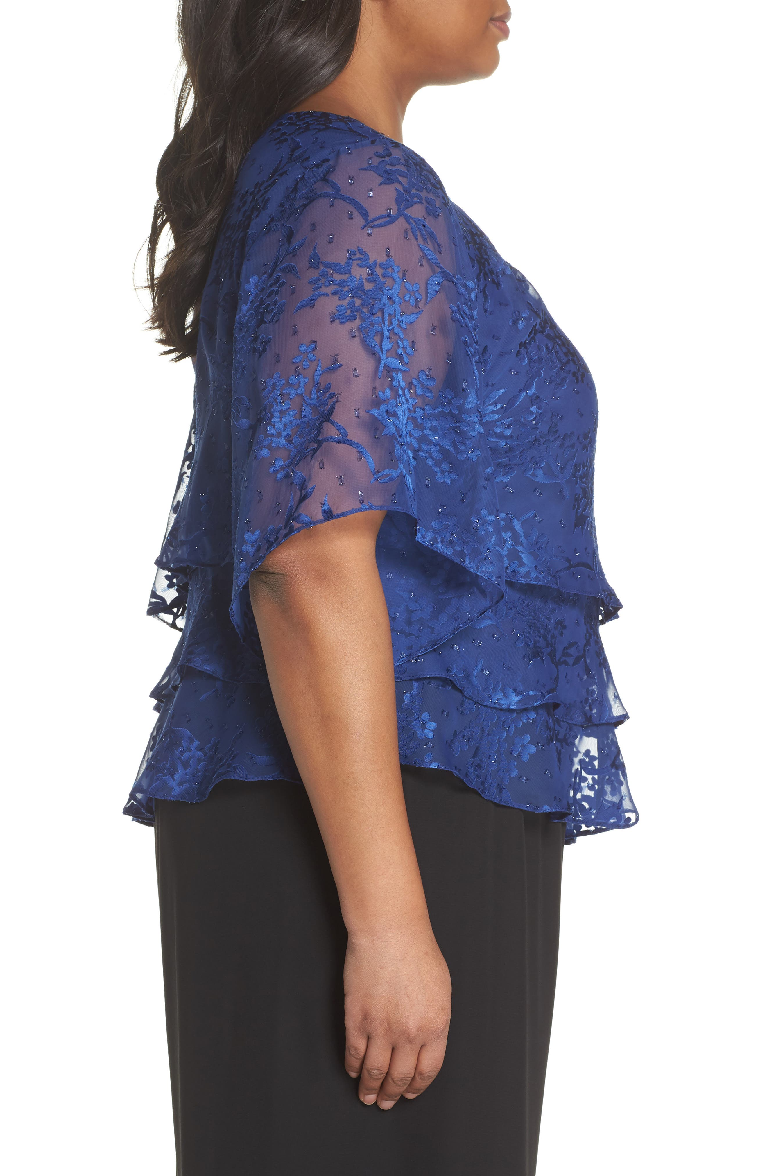 Embroidered Asymmetrical Top,                             Alternate thumbnail 6, color,