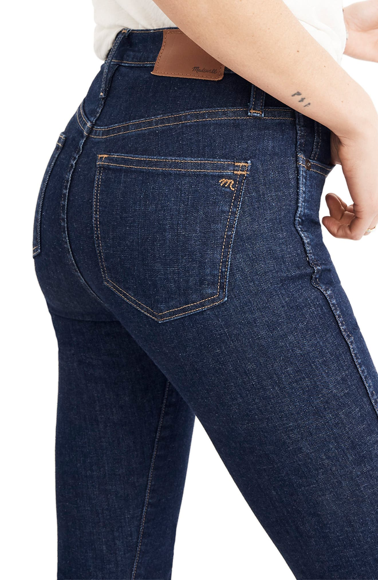 10-Inch High Waist Skinny Jeans,                             Alternate thumbnail 6, color,                             400