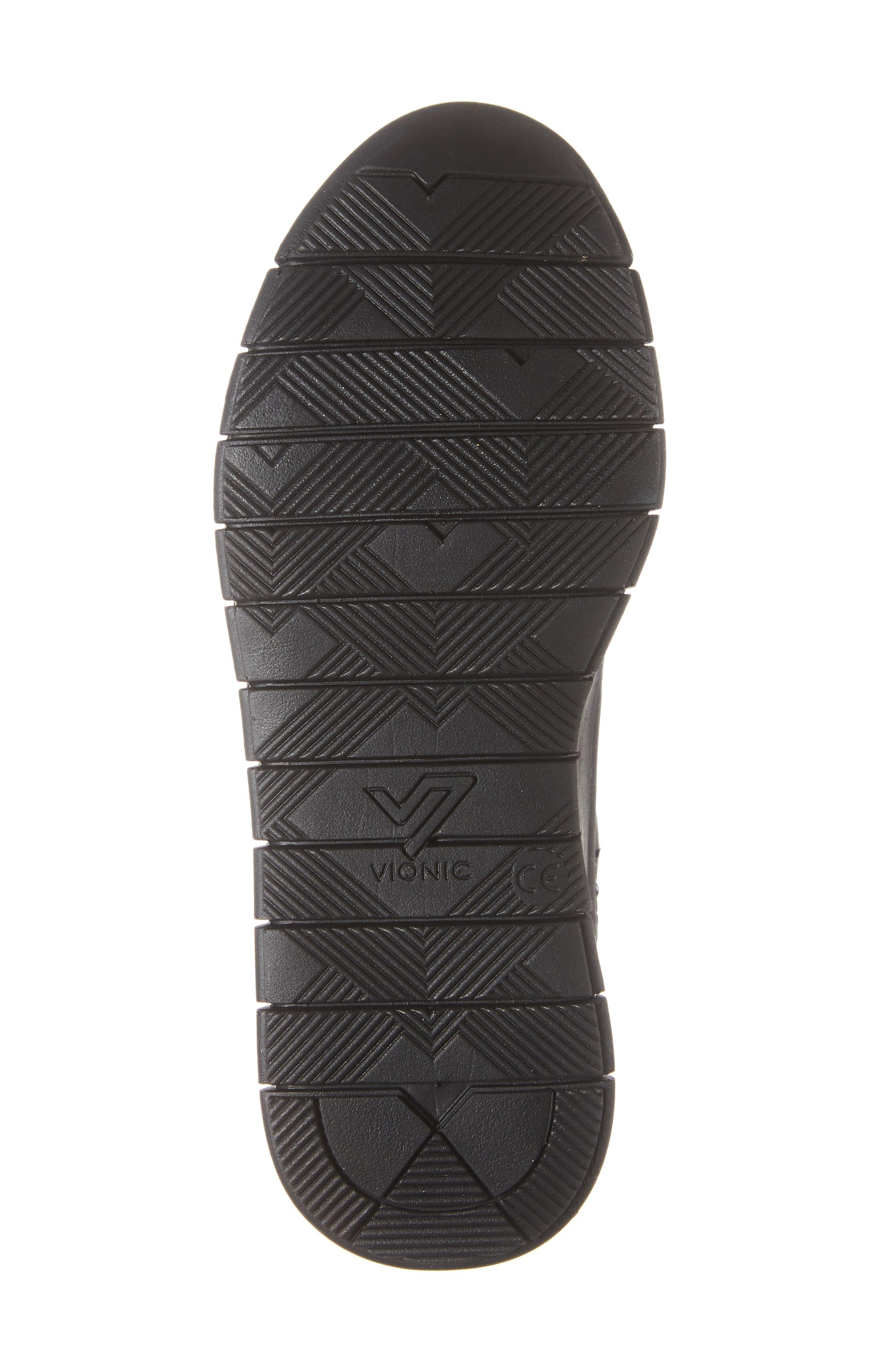 Kaufman Sneaker,                             Alternate thumbnail 6, color,                             BLACK LEATHER