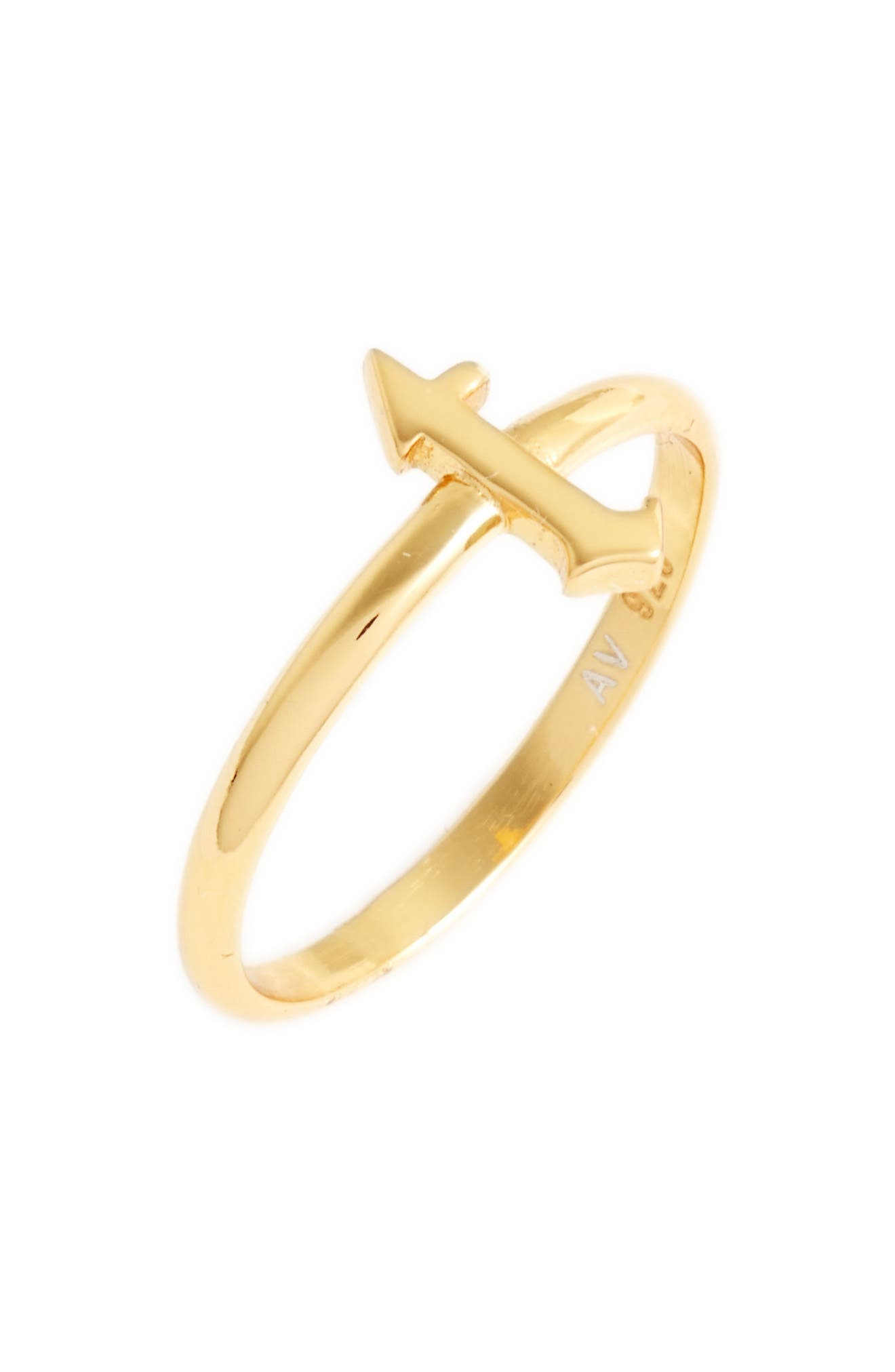 Gothic Initial Ring,                             Main thumbnail 28, color,