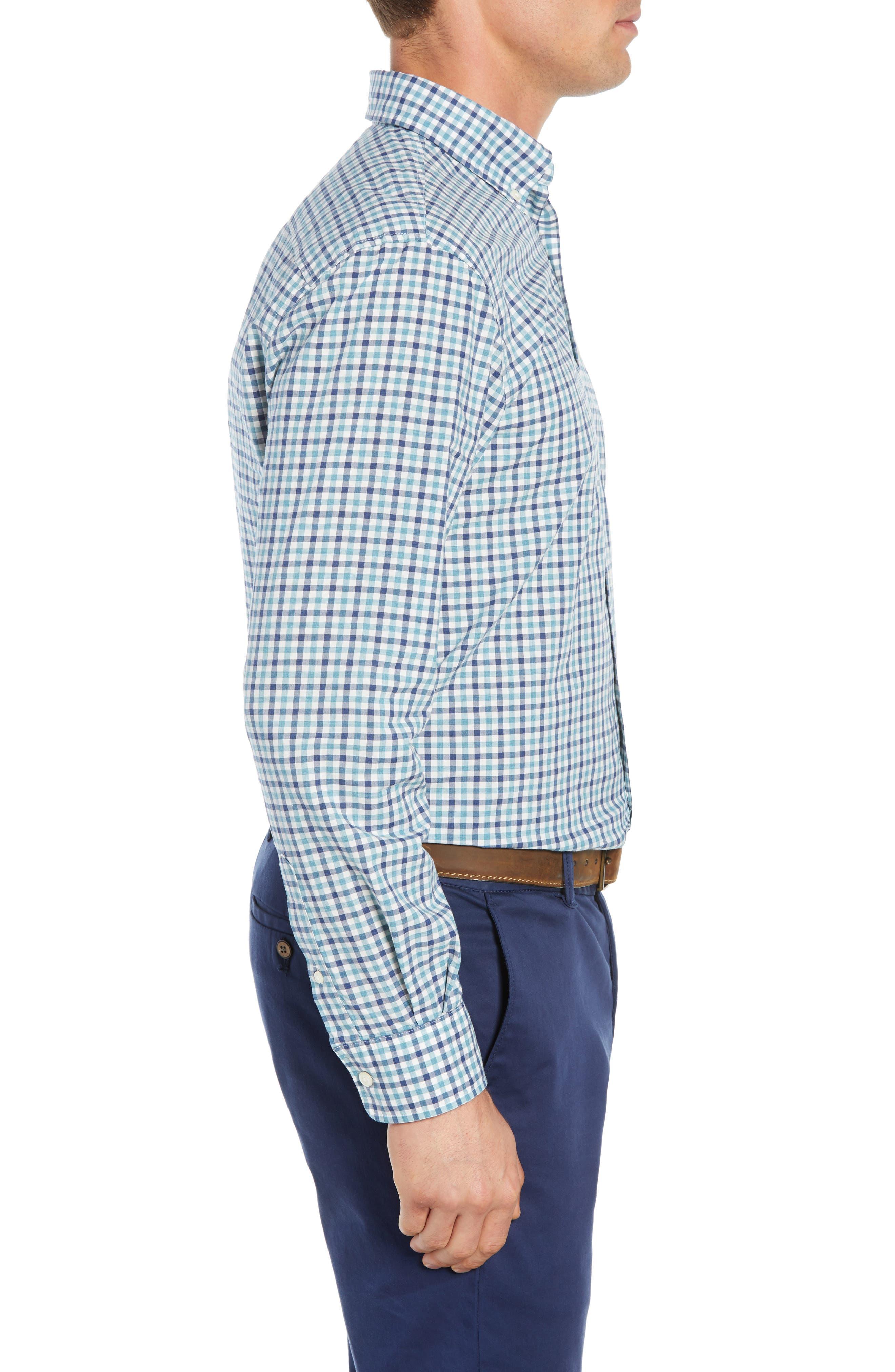 Finley Classic Fit Sport Shirt,                             Alternate thumbnail 4, color,                             JADE