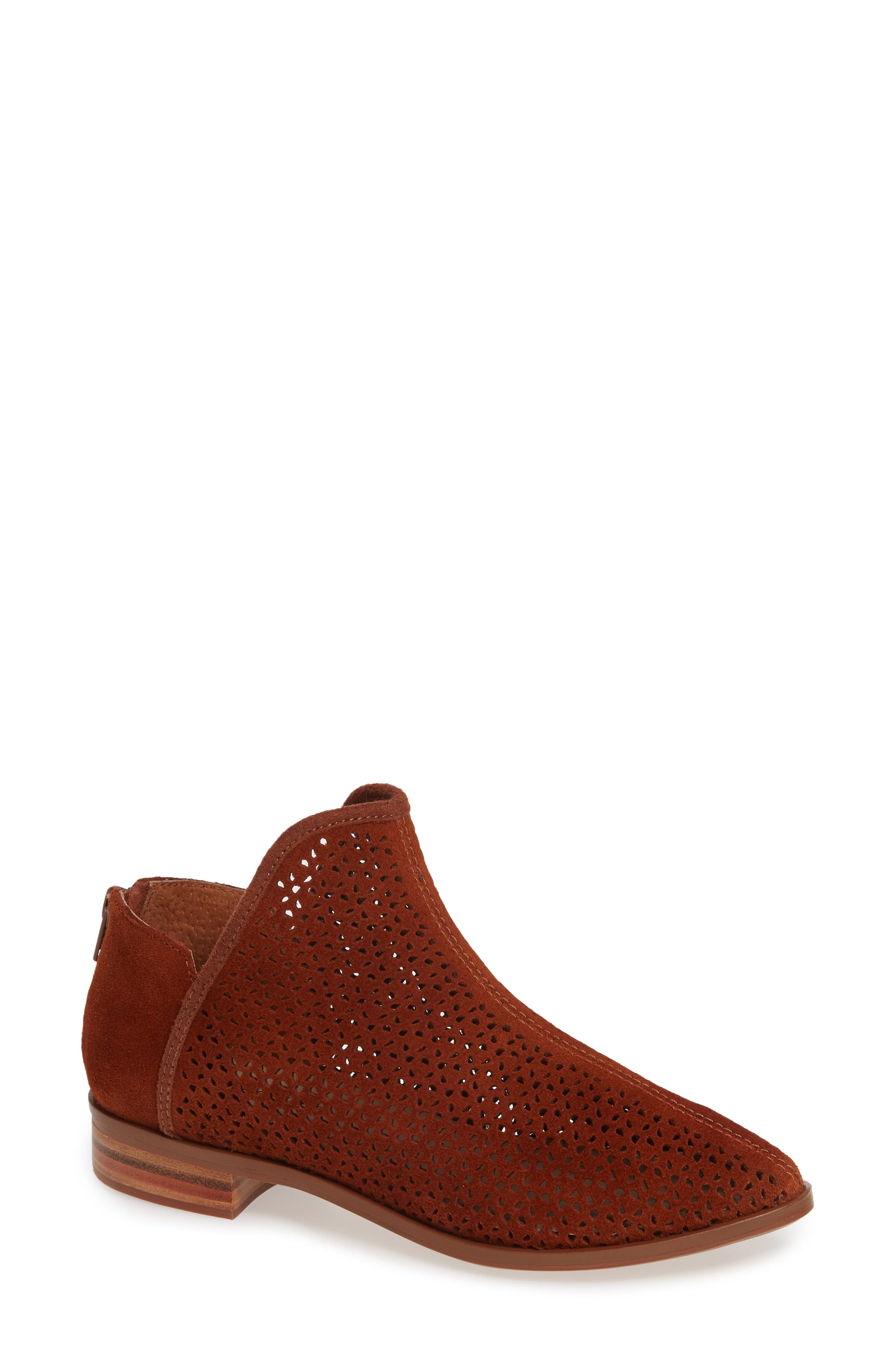 Kelsi Dagger Brooklyn Alley Perforated Bootie- Brown