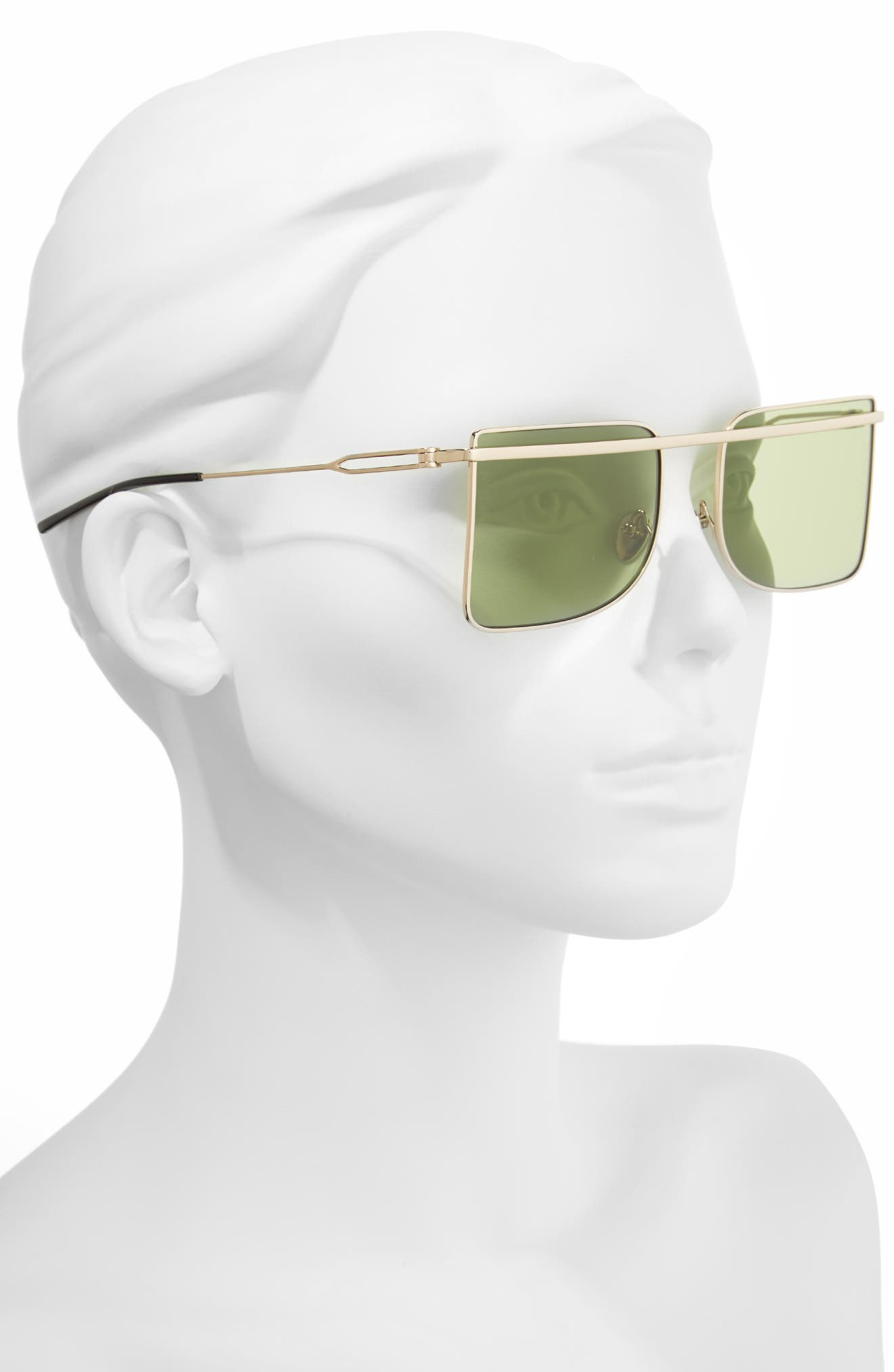 205W39NYC 56mm Butterfly Sunglasses,                             Alternate thumbnail 4, color,